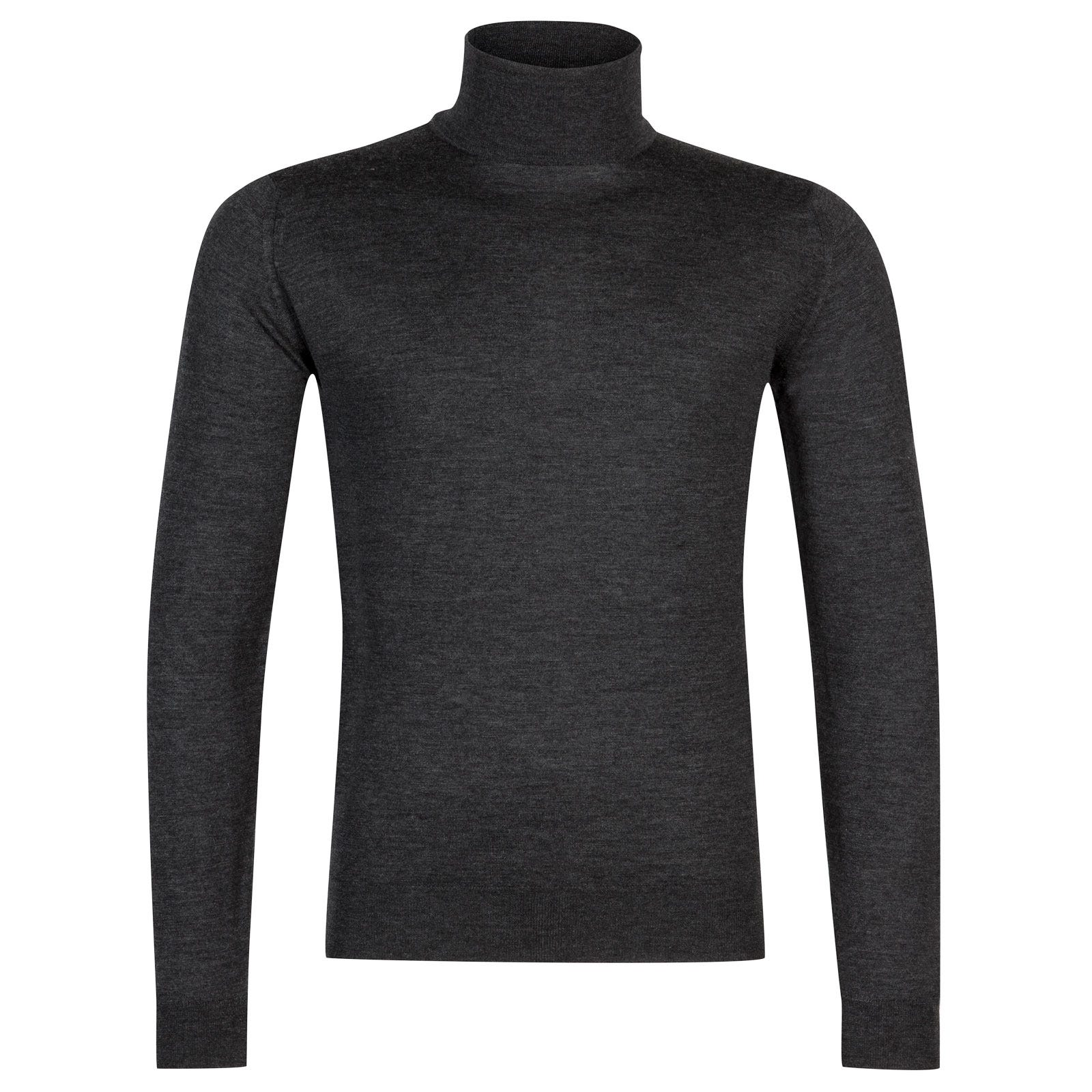John Smedley Arlington Merino Wool and Cashmere Pullover in Charcoal-M