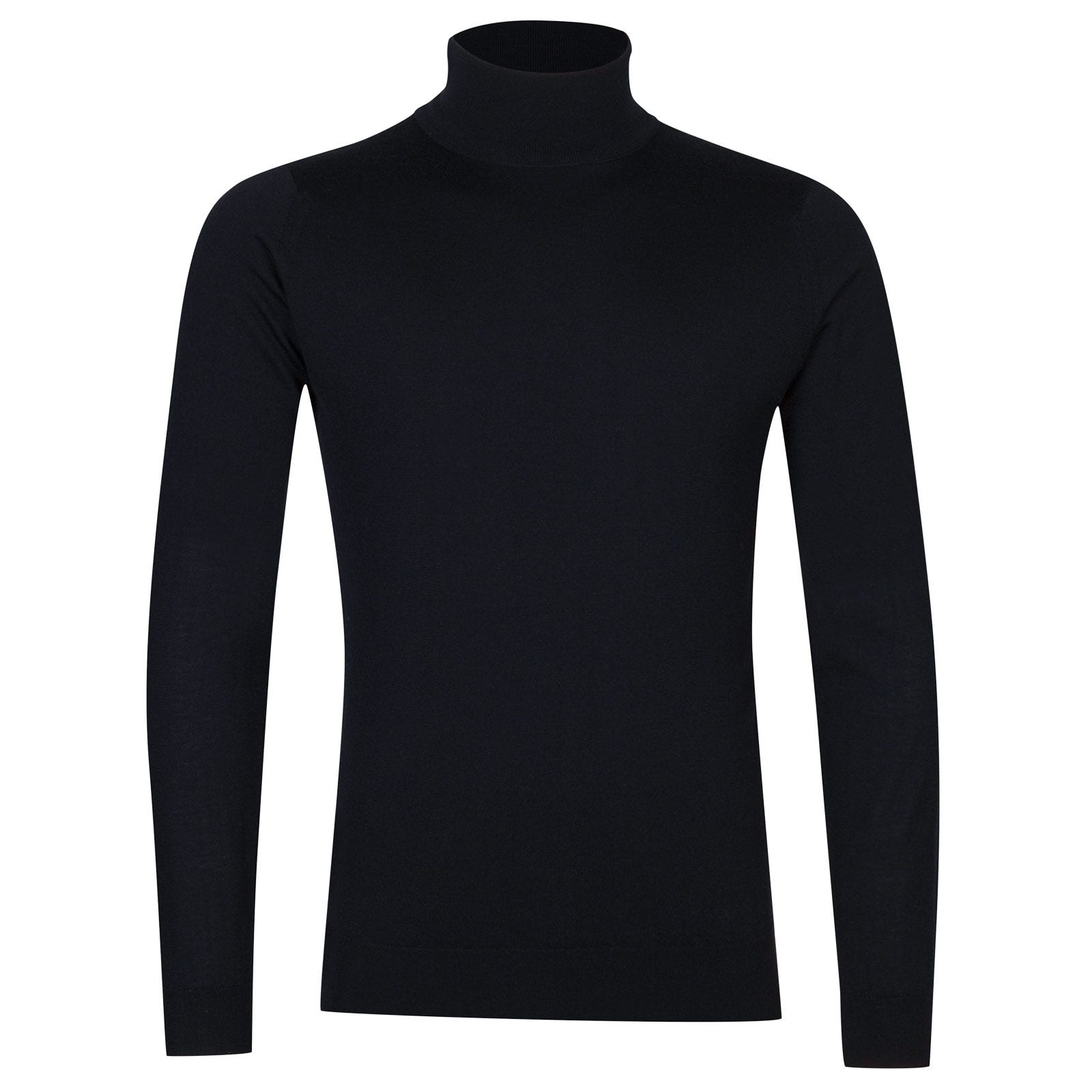 John Smedley Arlington Merino Wool and Cashmere Pullover in Midnight-S