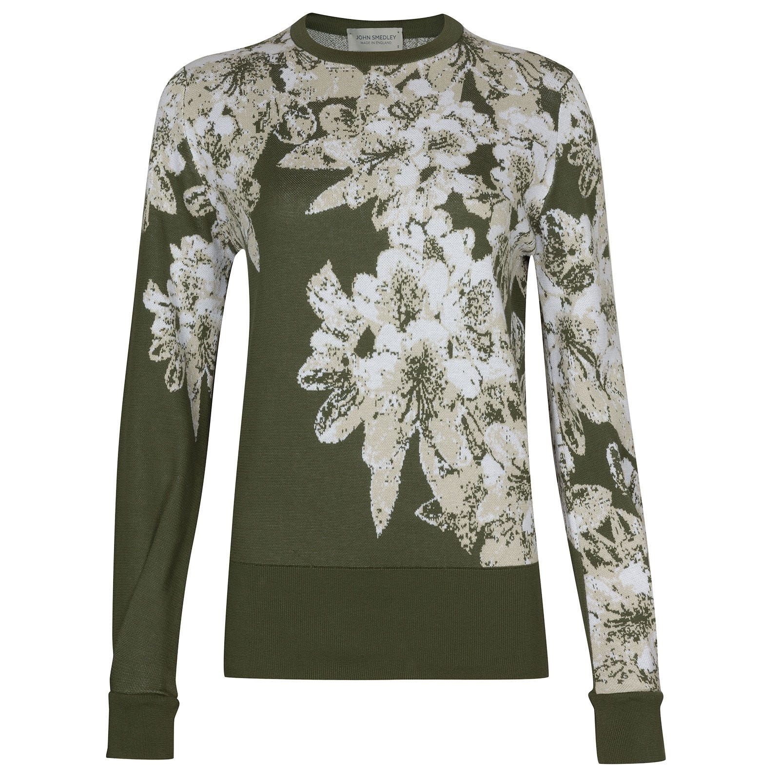 John Smedley Aster in Sepal Green Sweater-LGE
