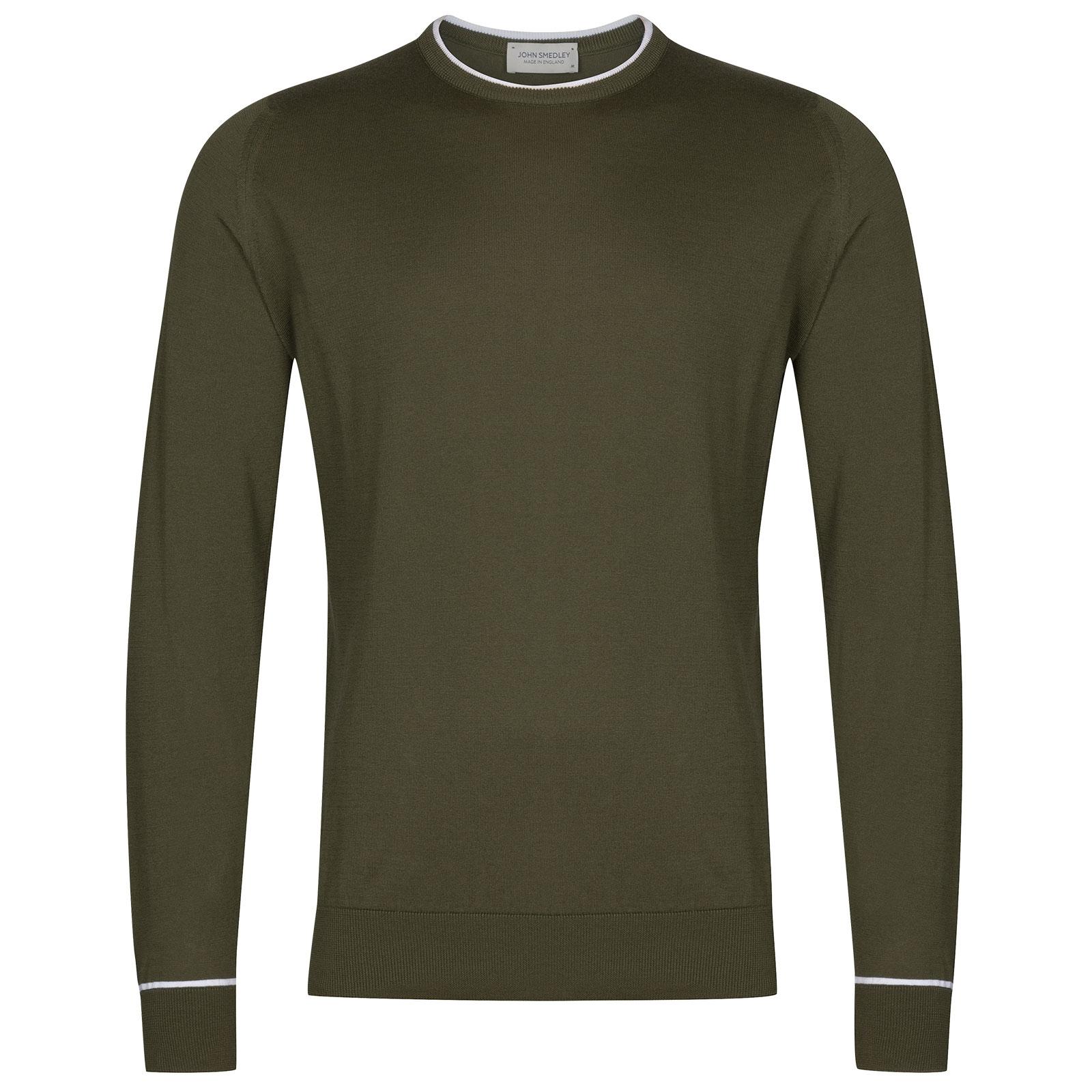 John Smedley Astin in Sepal Green Pullover-XXL