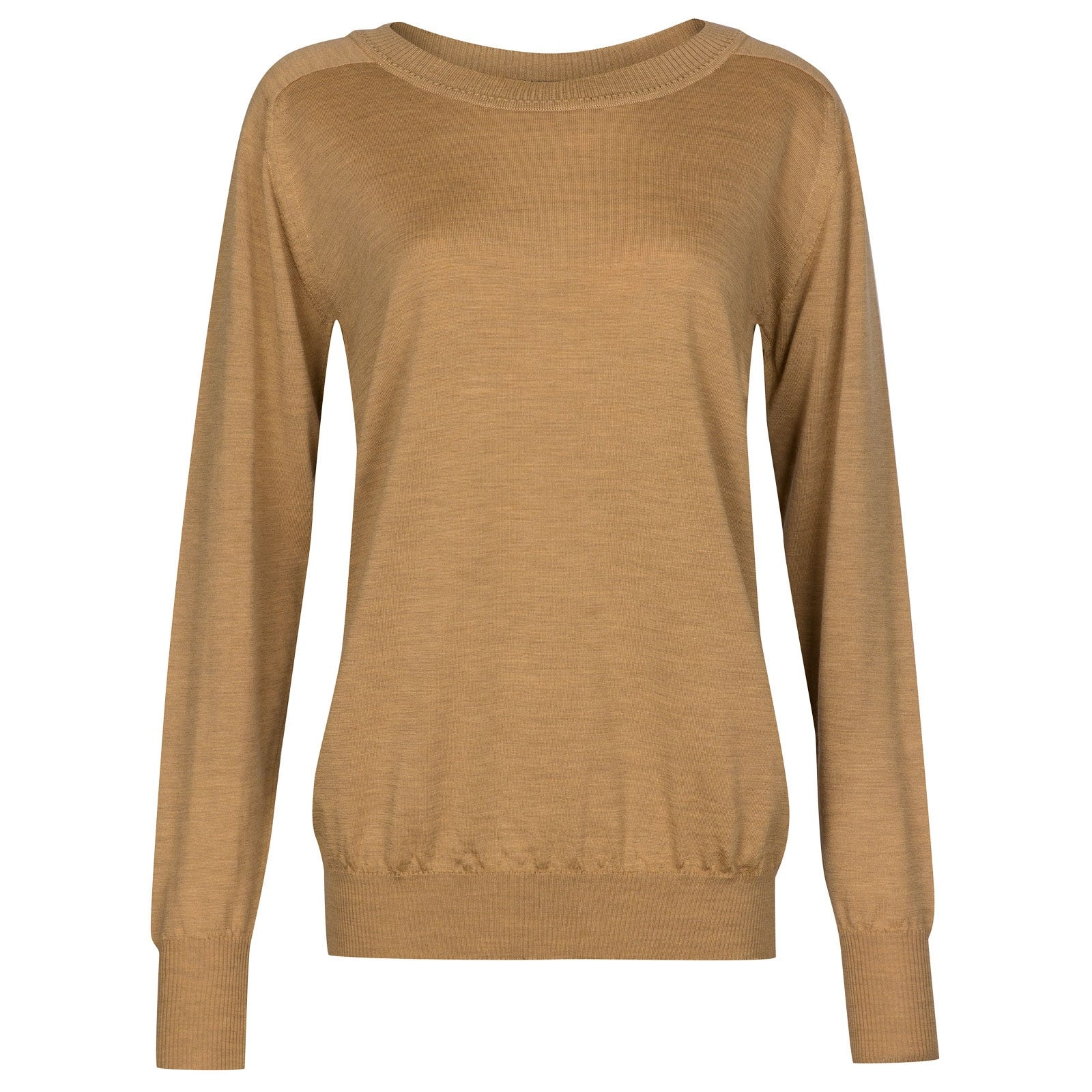 John Smedley Atwood in Dark camel Sweater-LGE