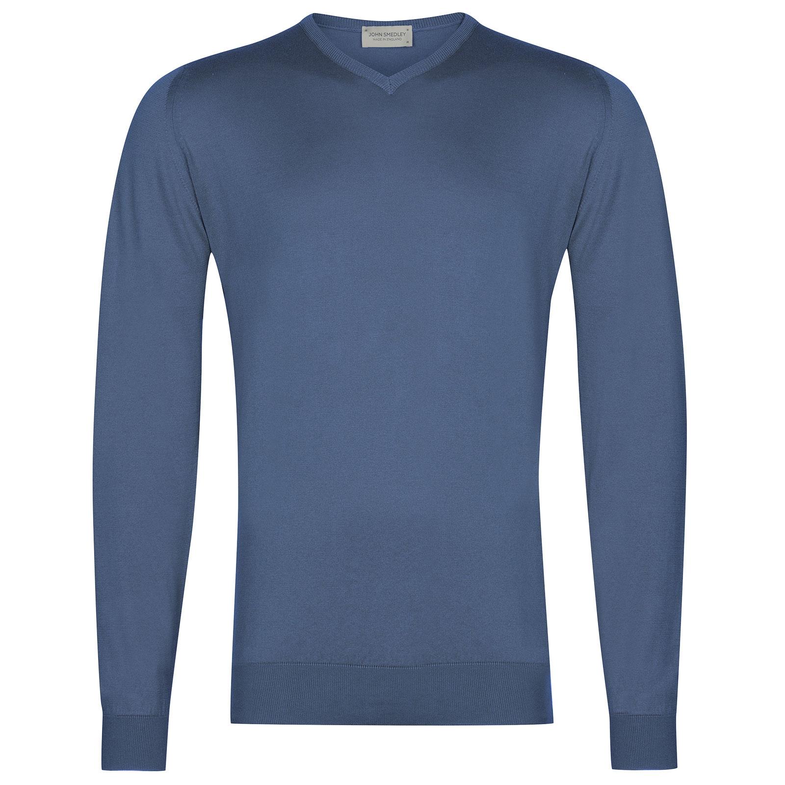 John Smedley Aydon in Blue Iris Pullover-SML
