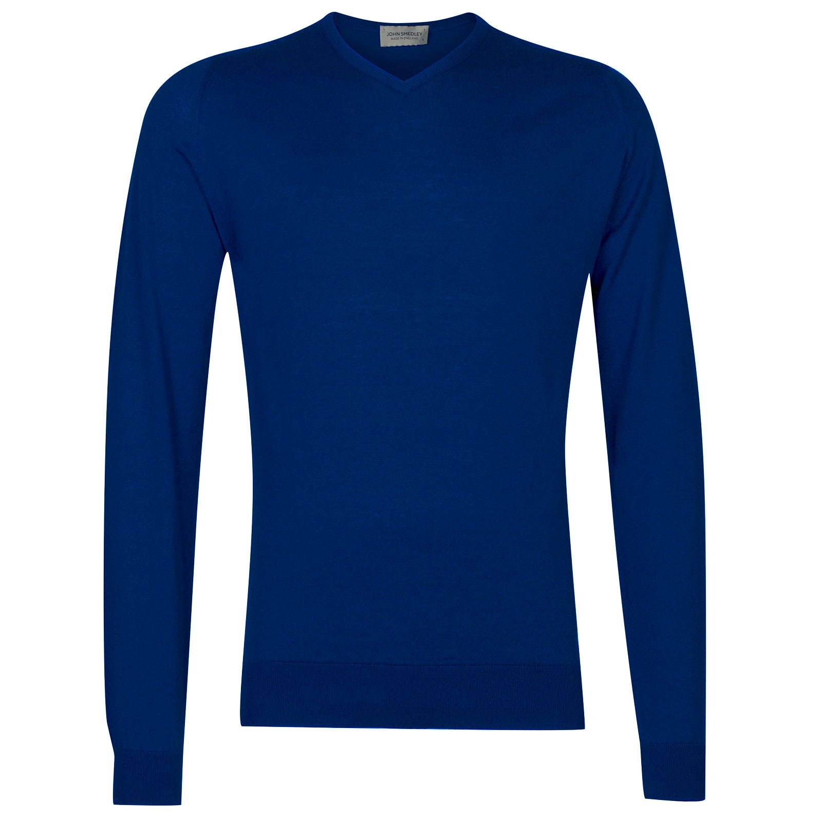 John Smedley Aydon Sea Island Cotton Pullover in Coniston Blue-L