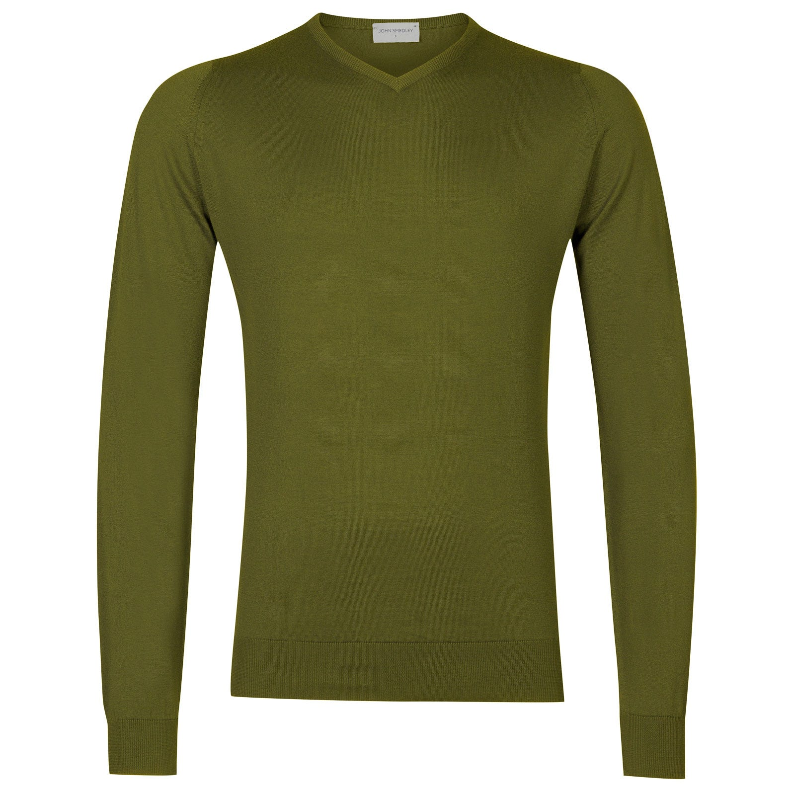 John Smedley Aydon Sea Island Cotton Pullover in Lumsdale Green-M