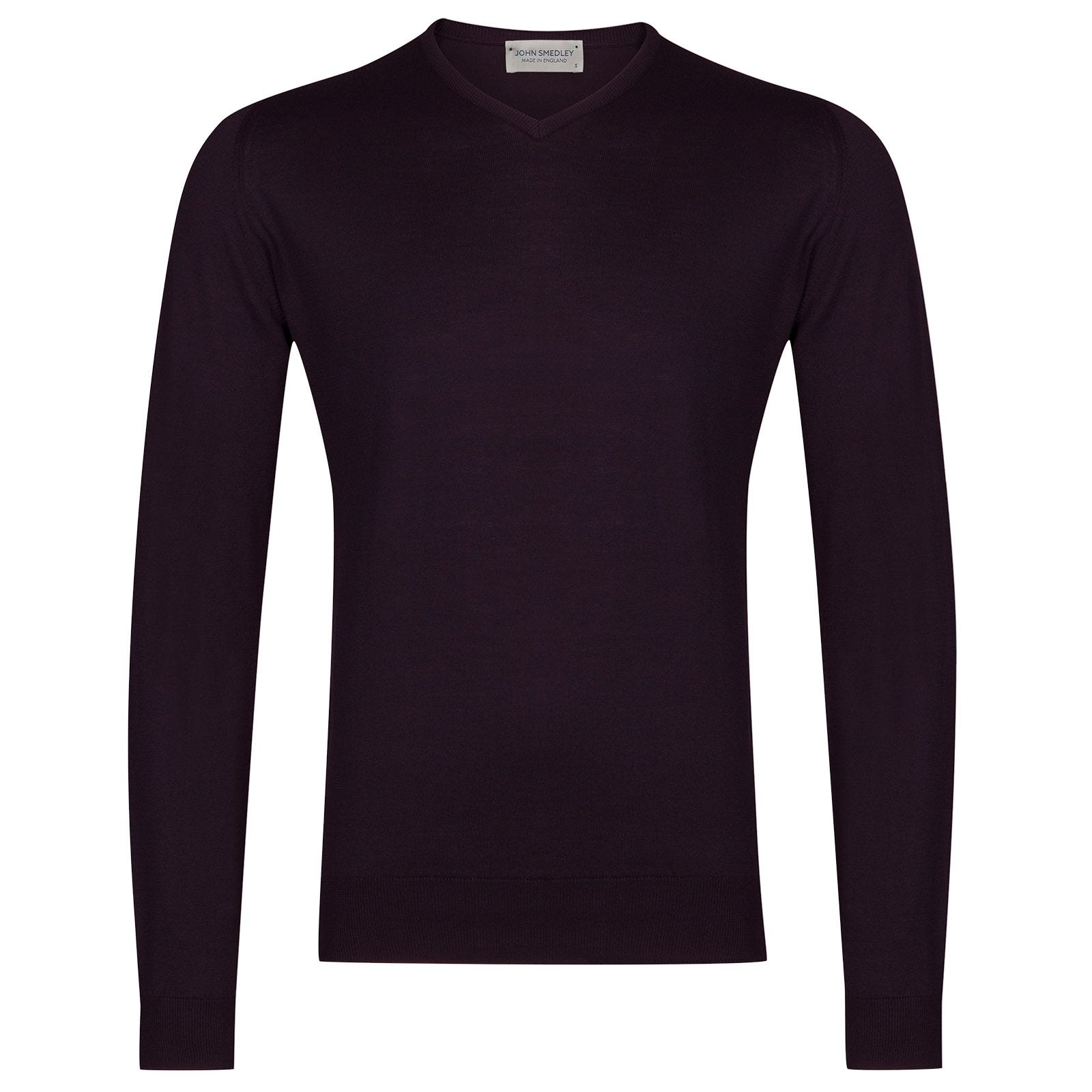 John Smedley Aydon Sea Island Cotton Pullover in Mystic Purple-L
