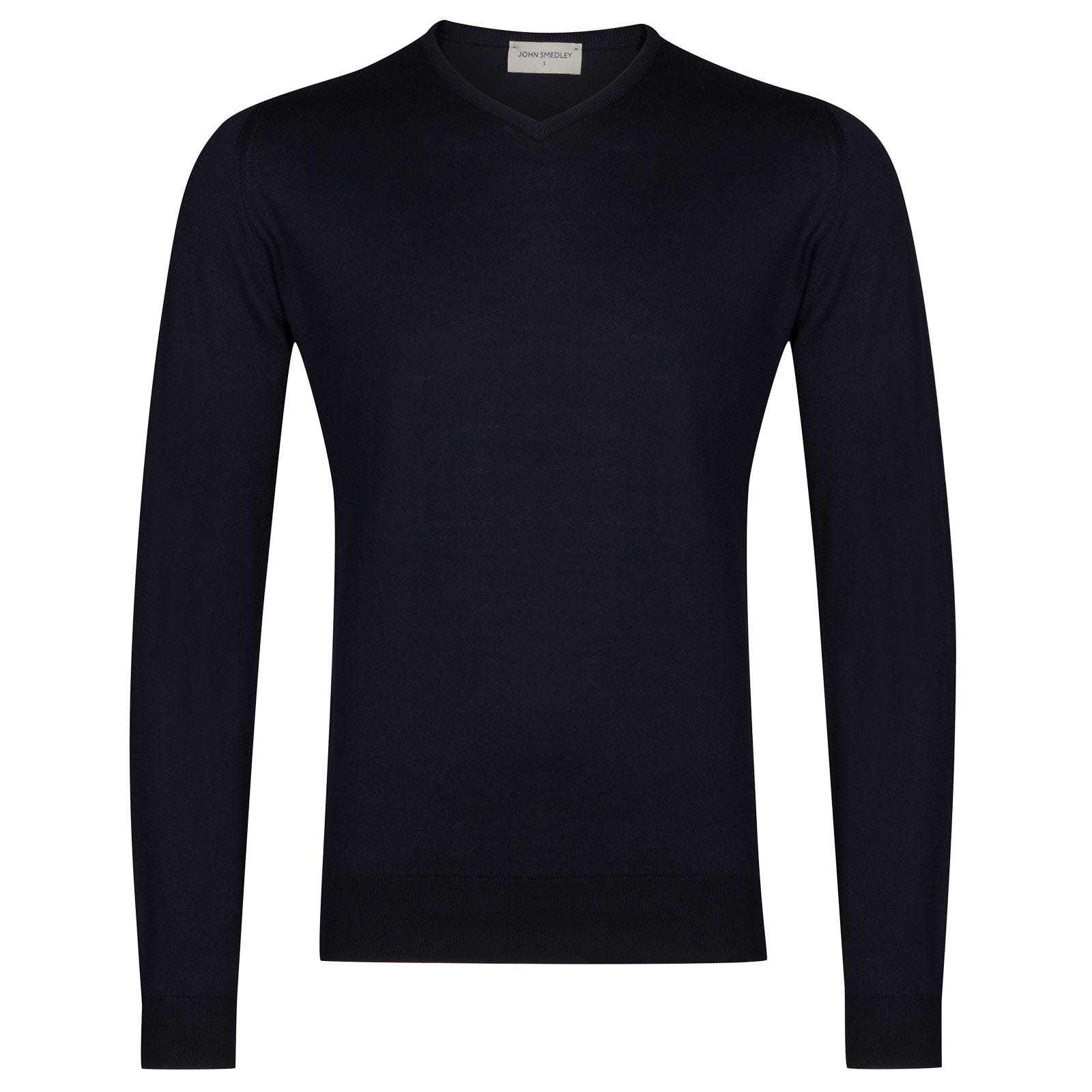 John Smedley Aydon Sea Island Cotton Pullover in Navy-M