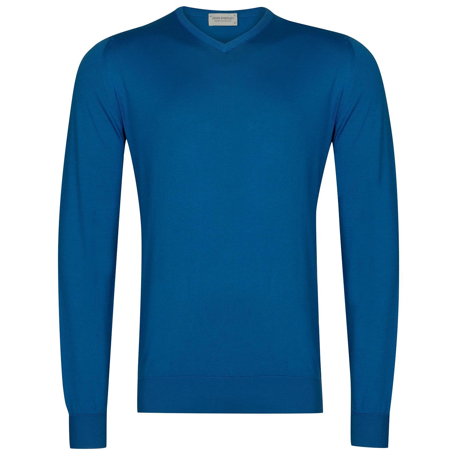 John Smedley Aydon in Statice Blue Pullover-LGE