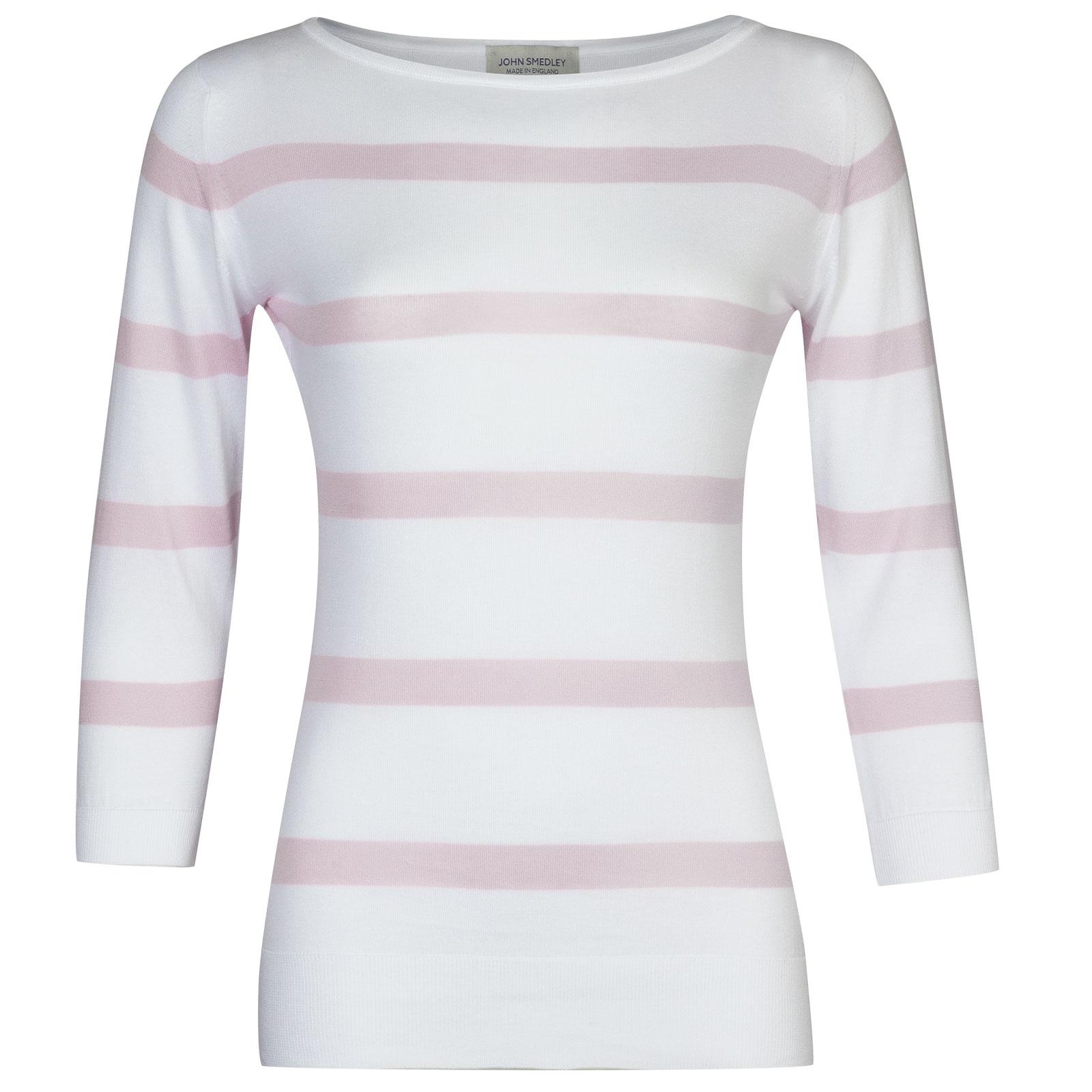Ayton In White/Keeling Pink-L