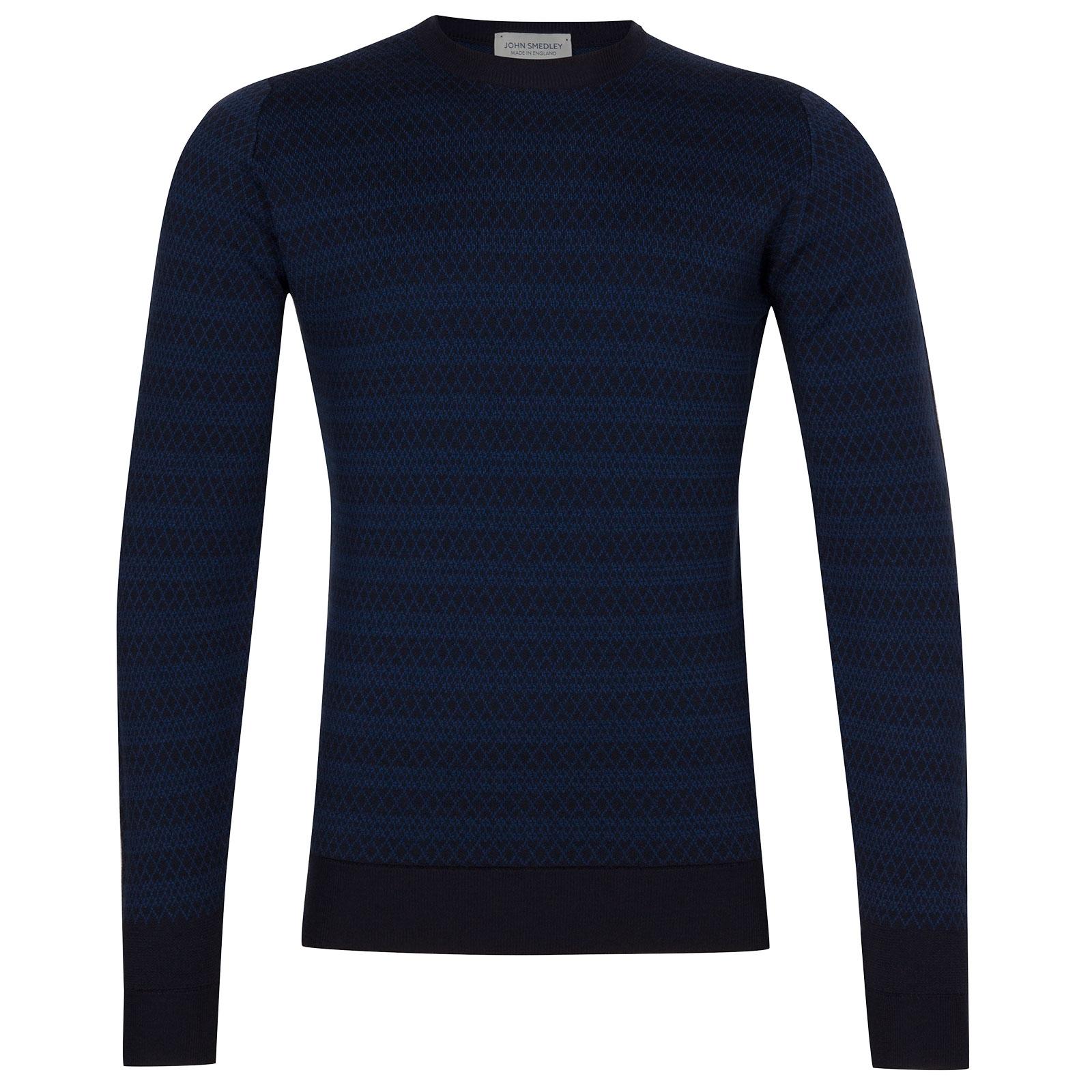 John Smedley Baldo Extra Fine Merino Wool Pullover in Midnight-S