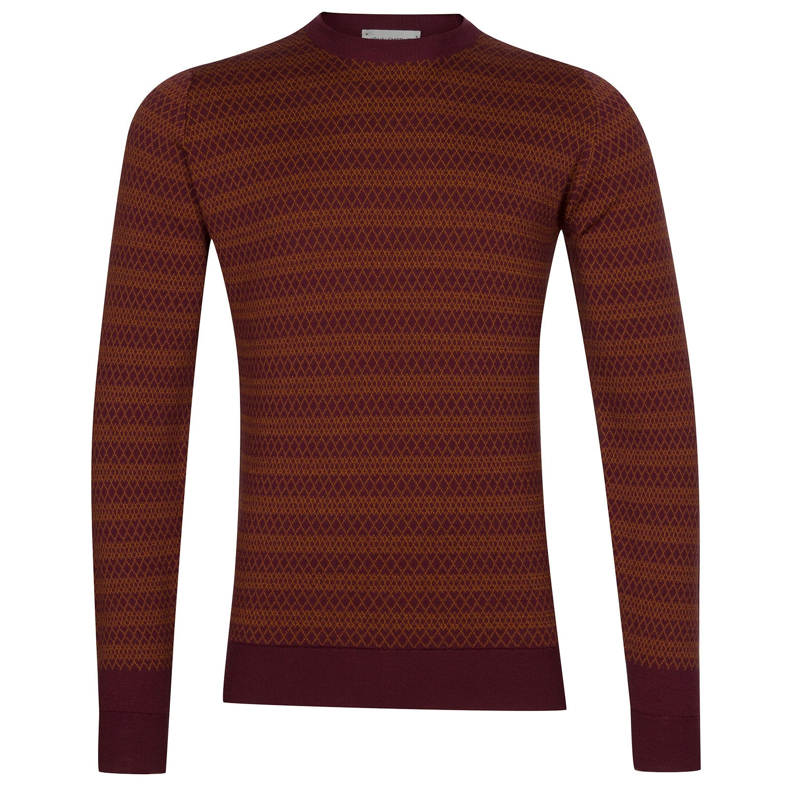 John Smedley Baldo Extra Fine Merino Wool Pullover in Bordeaux-XL
