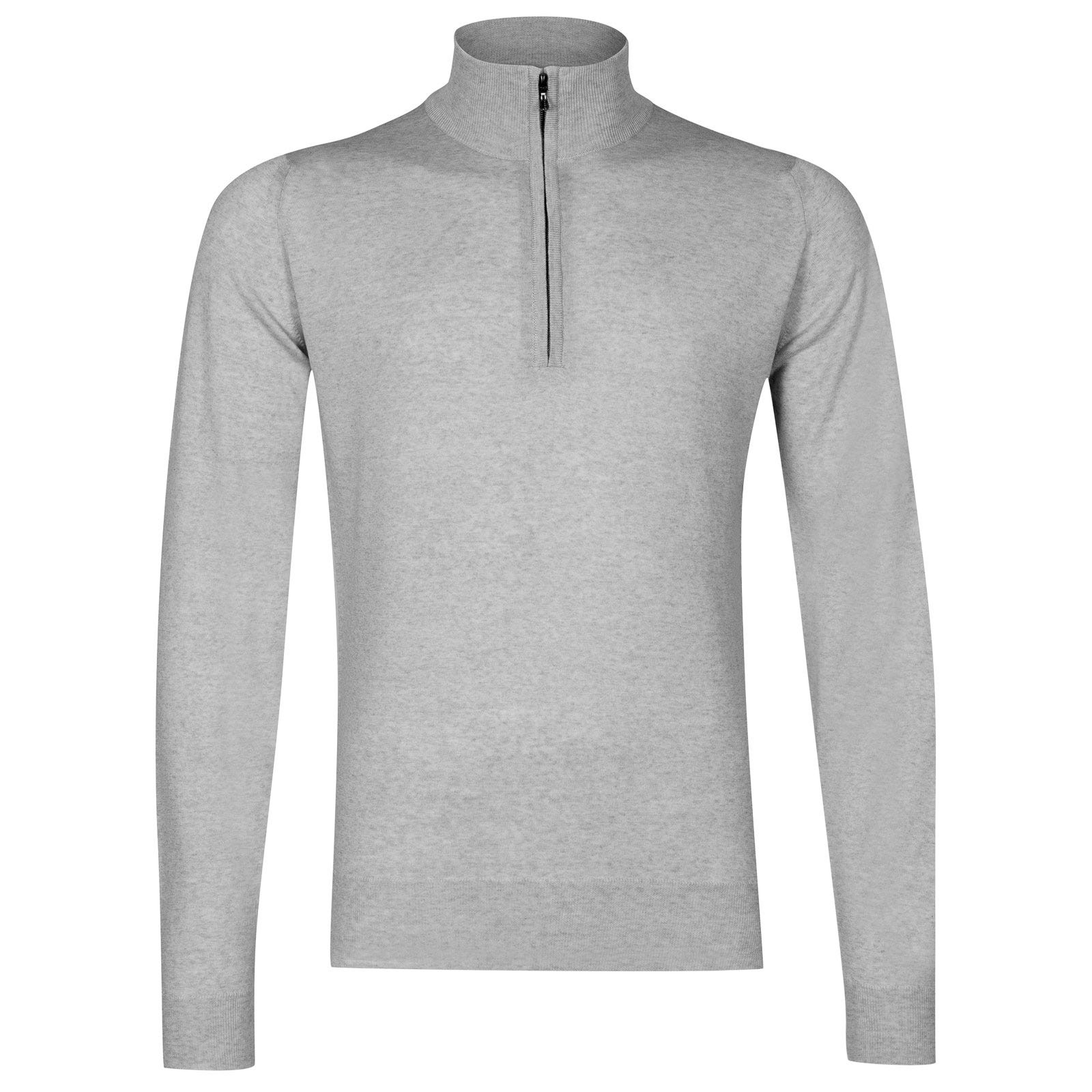 John Smedley Barrow Merino Wool Pullover in Bardot Grey-S