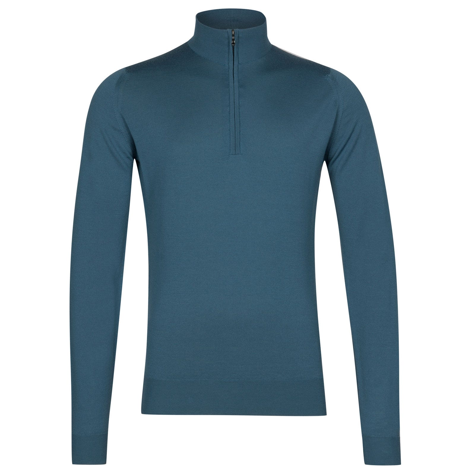 John Smedley Barrow Merino Wool Pullover in Bias Blue-XXL
