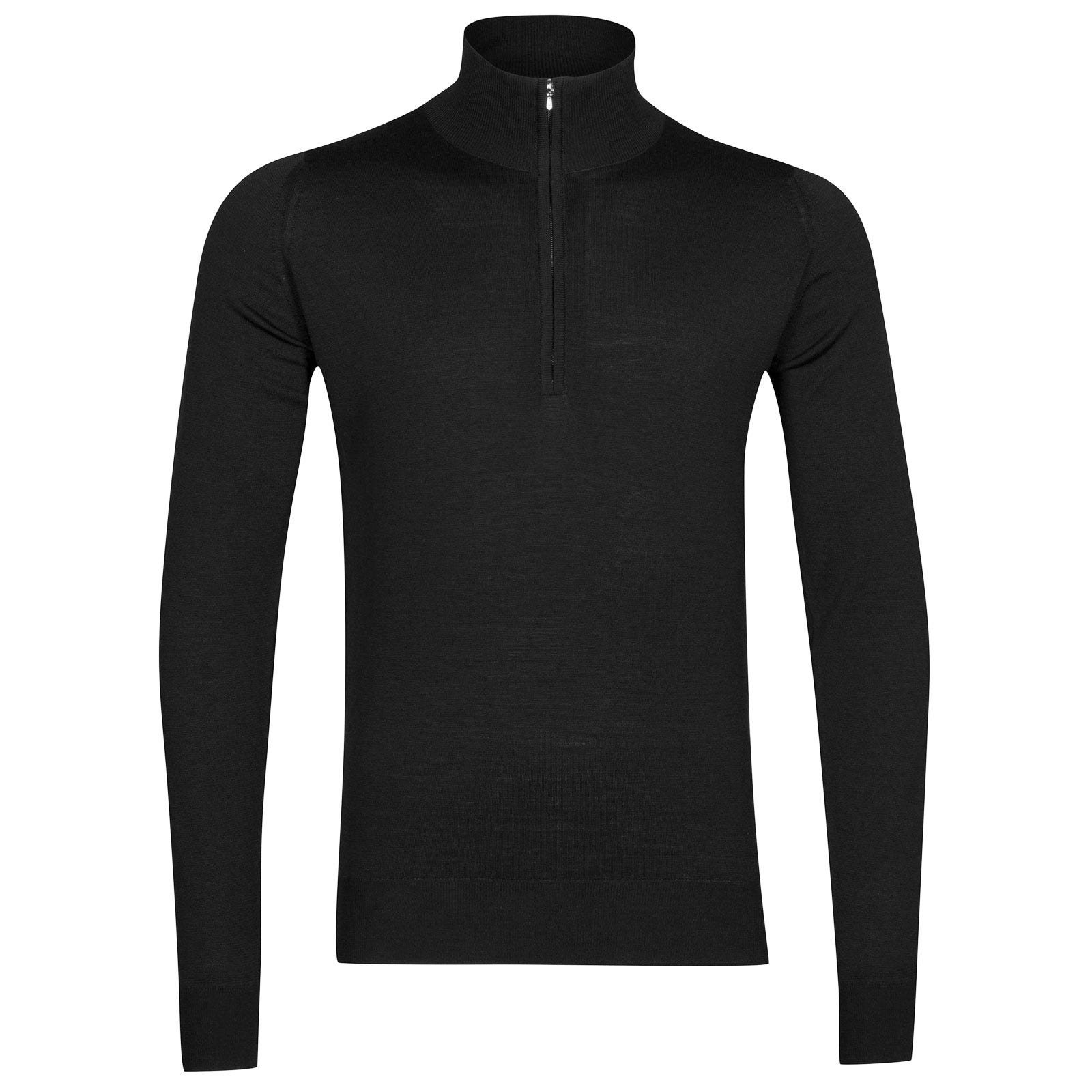John Smedley Barrow Merino Wool Pullover in Black-S