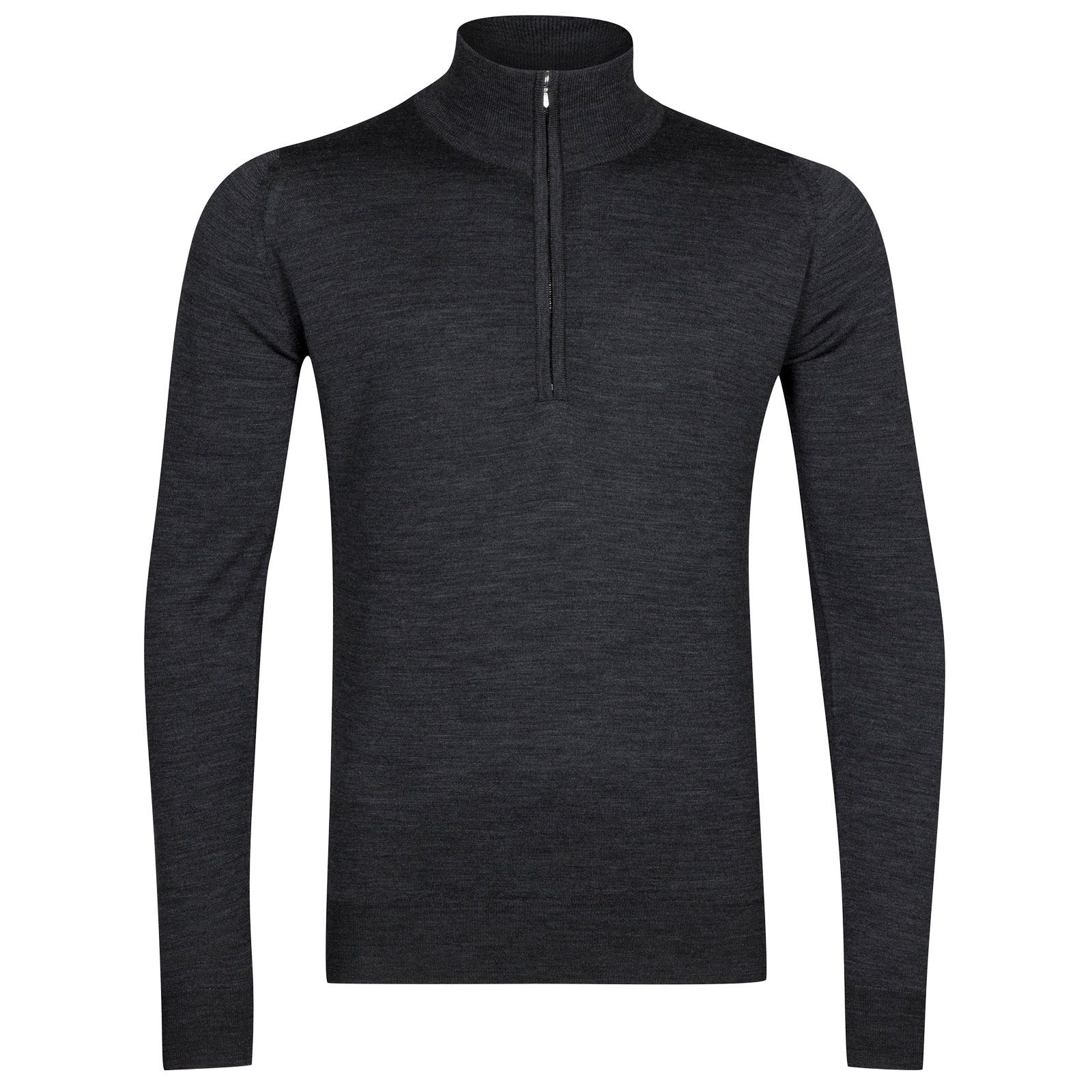 John Smedley Barrow Merino Wool Pullover in Charcoal-M