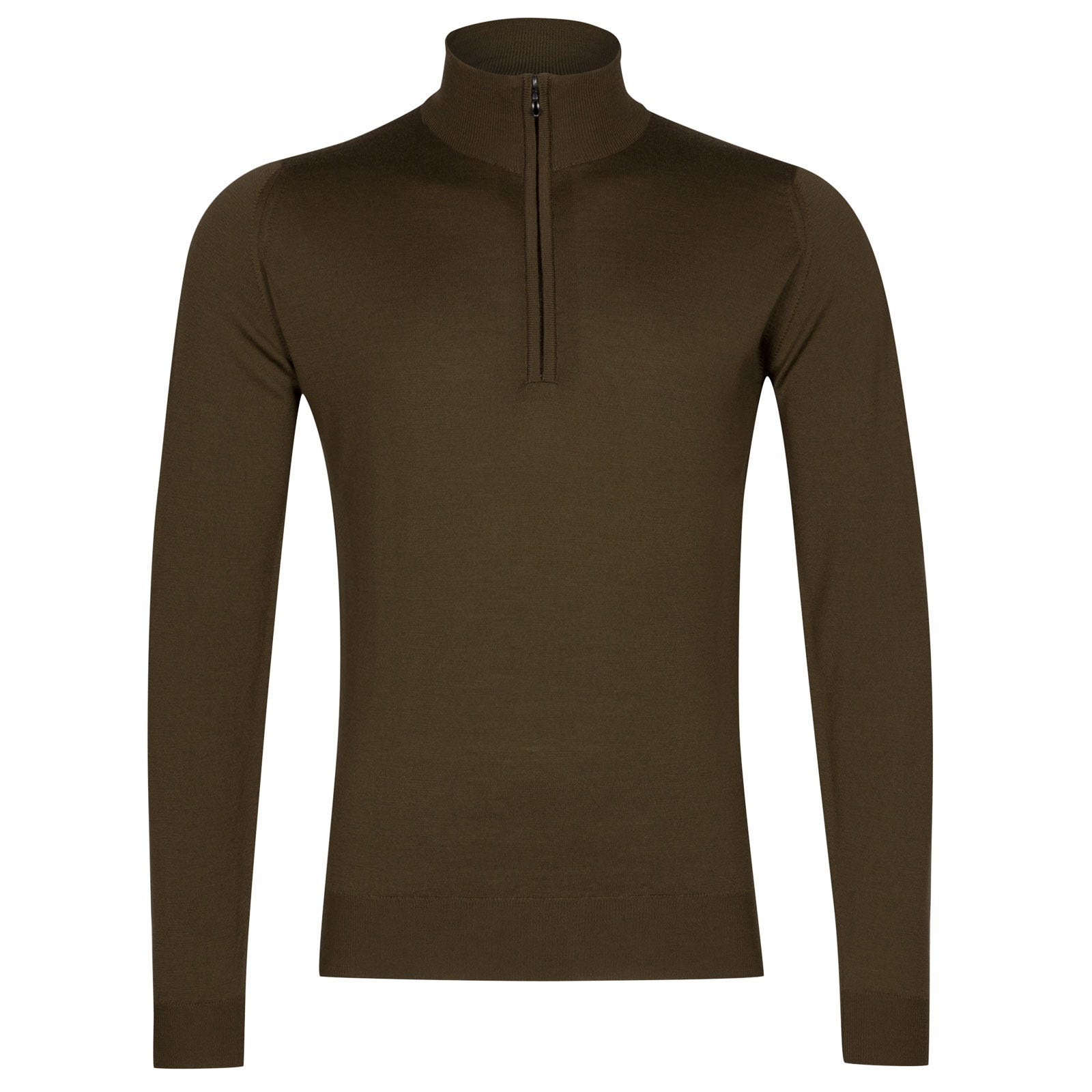 John Smedley Barrow Merino Wool Pullover in Kielder Green-M