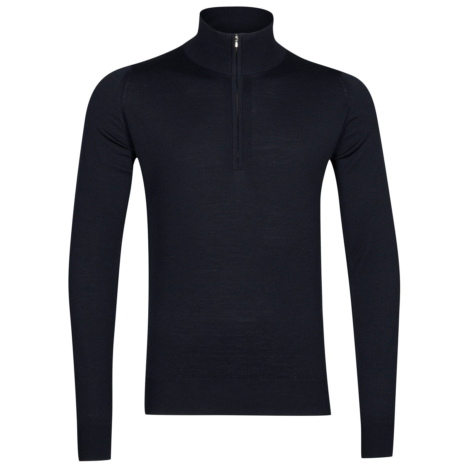 John Smedley Barrow Merino Wool Pullover in Midnight-XL