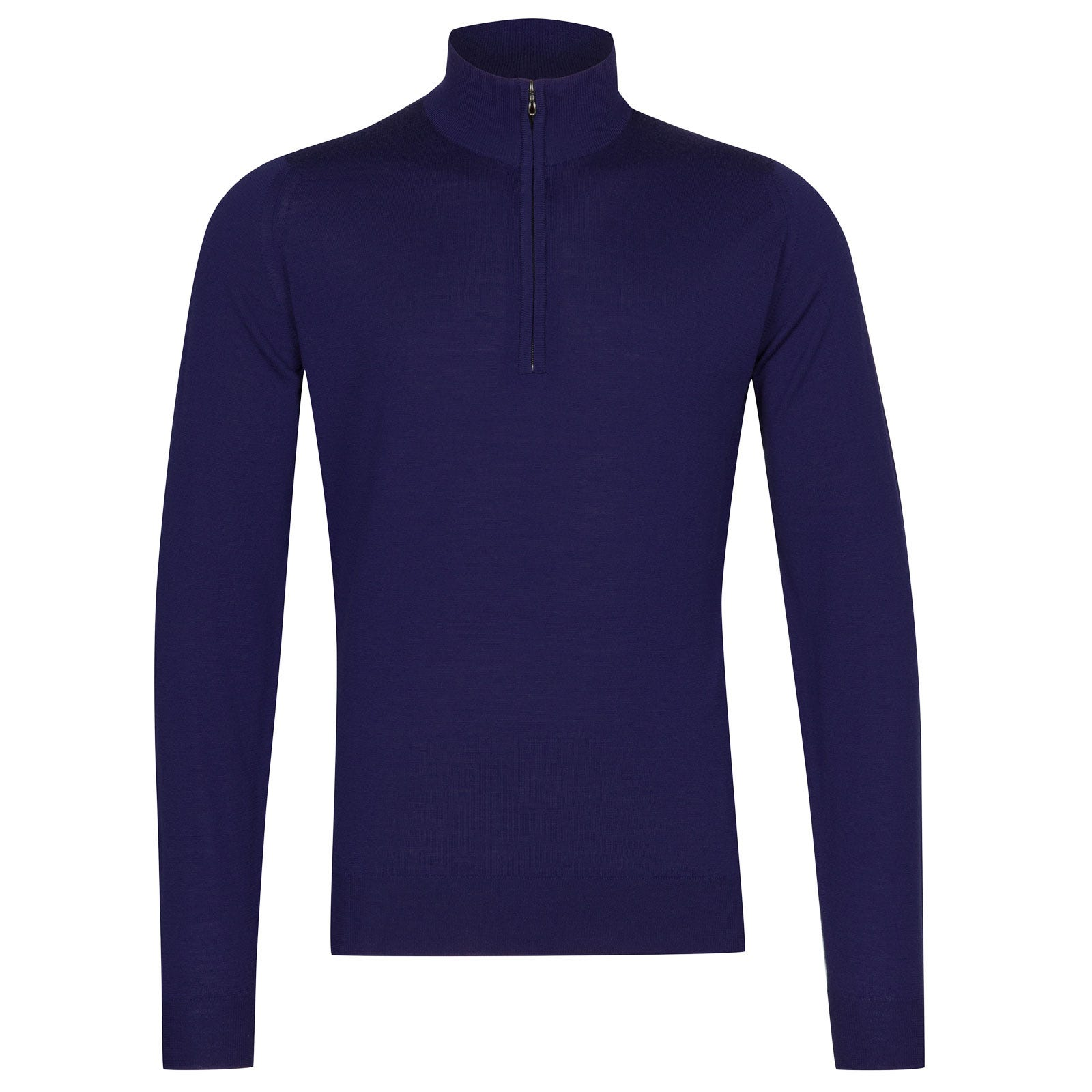 John Smedley Barrow Merino Wool Pullover in Serge Blue-M