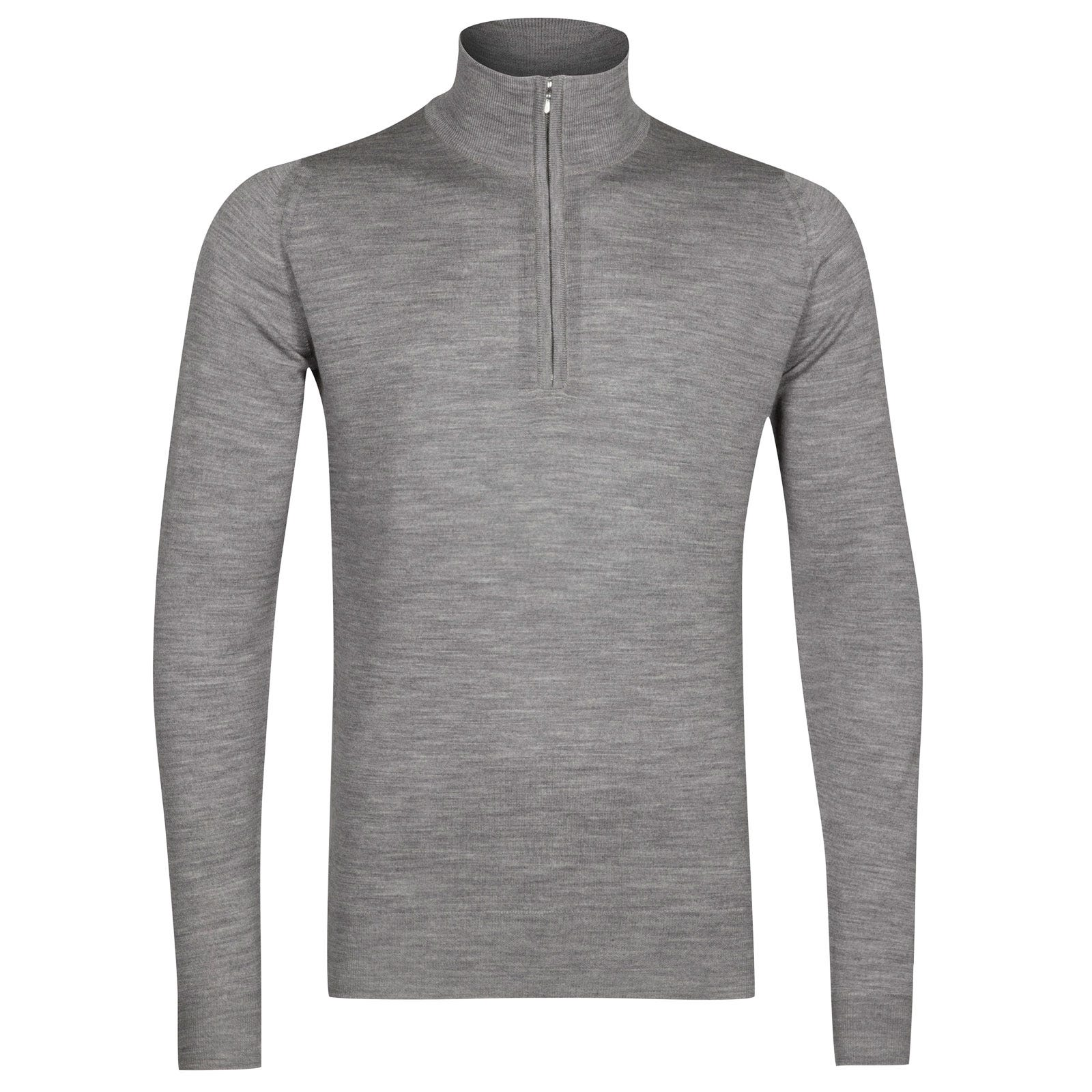John Smedley Barrow Merino Wool Pullover in Silver-XXL