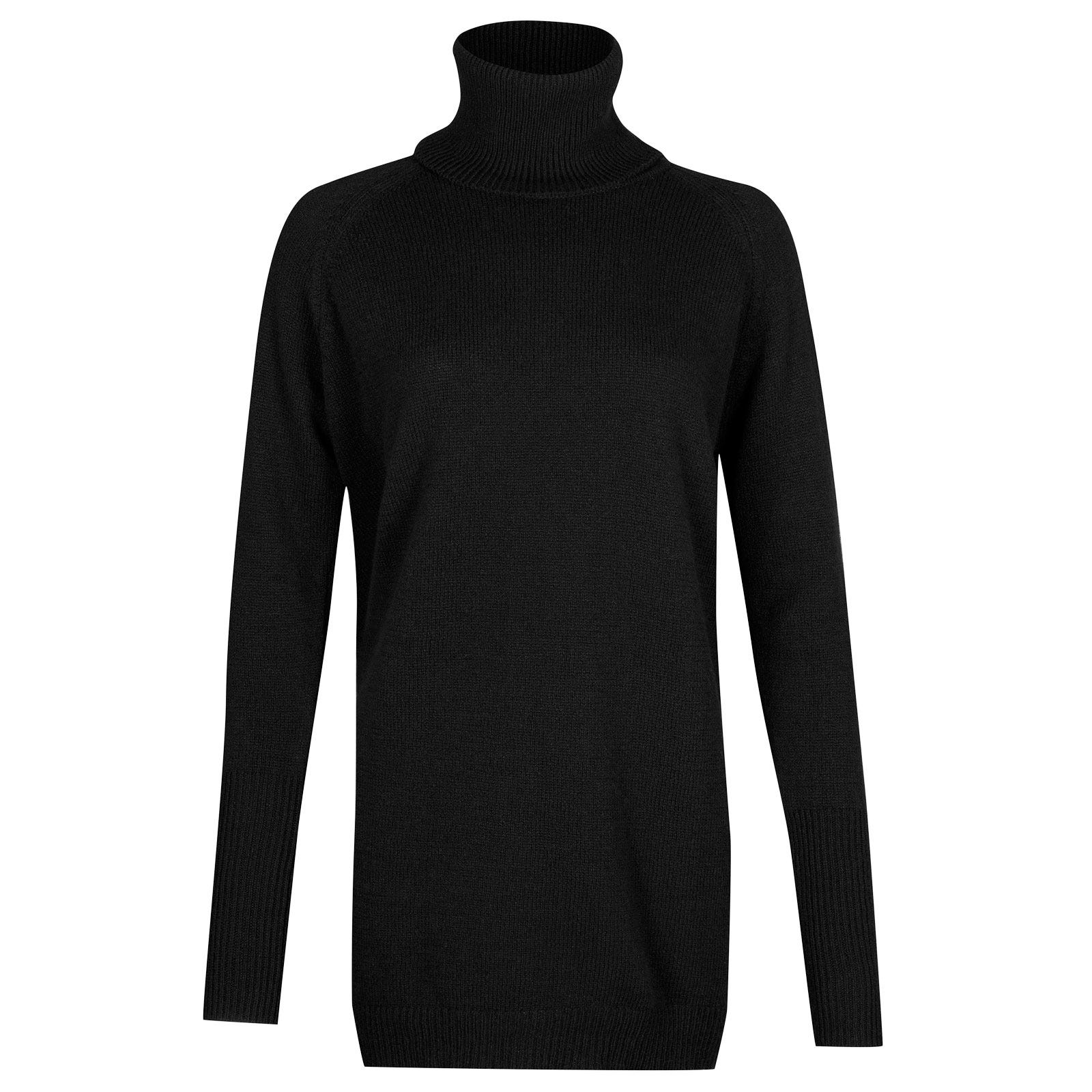 John Smedley beale Merino Wool & Cashmere Sweater in Black-M
