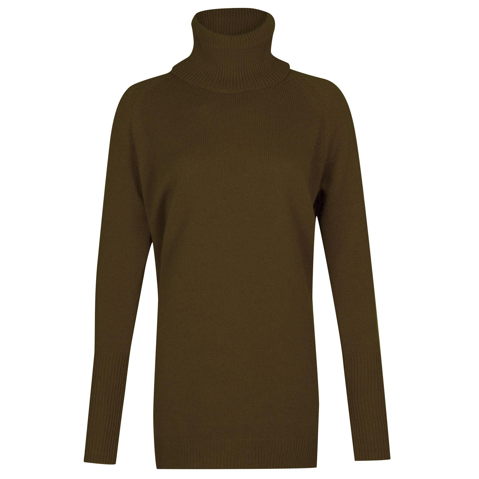 John Smedley beale Merino Wool & Cashmere Sweater in Kielder Green-M