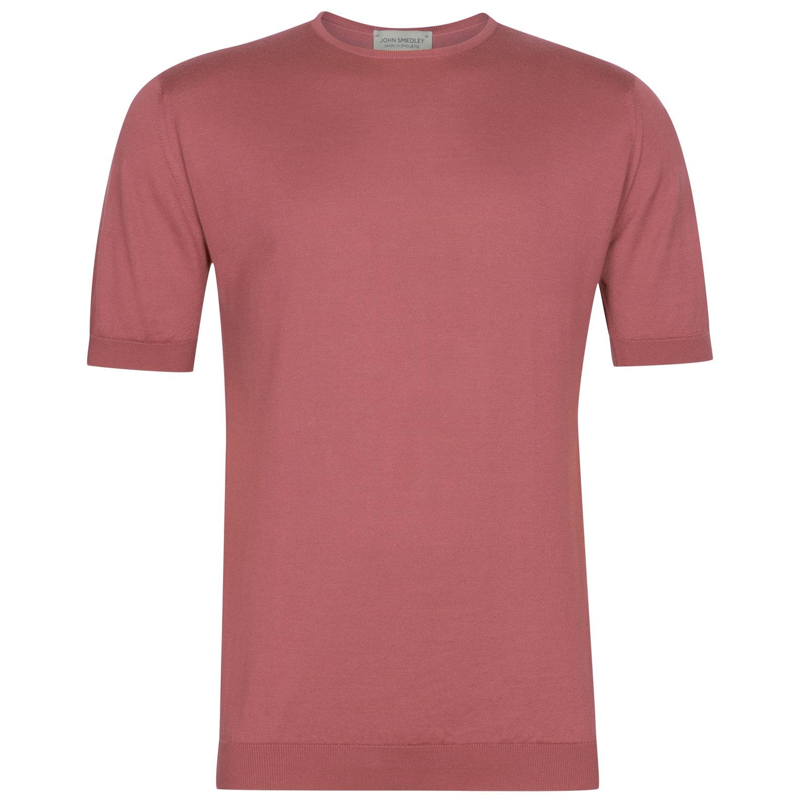 John Smedley Belden in Azalea Pink T-Shirt-LGE
