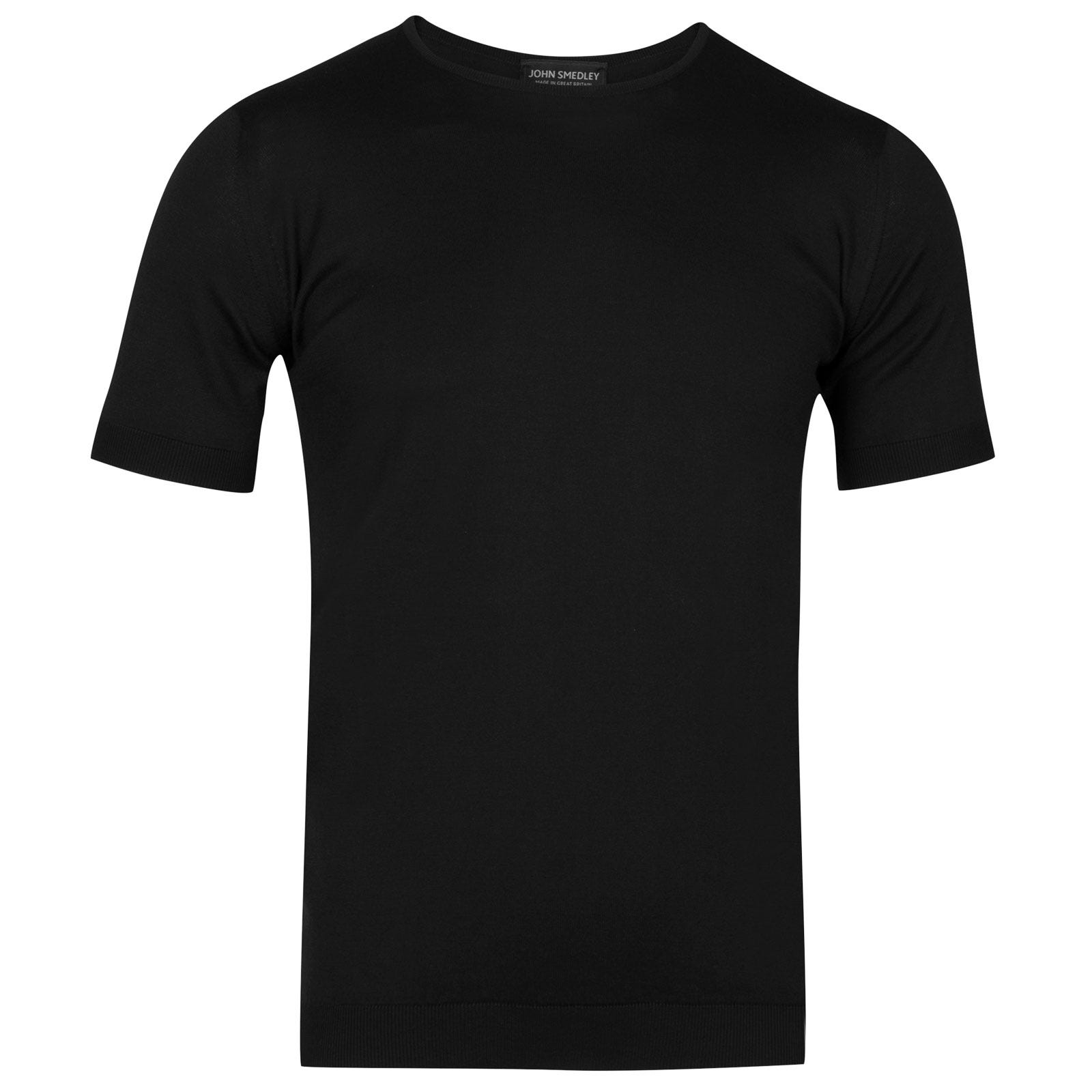 John Smedley belden Sea Island Cotton T-shirt in Black-S