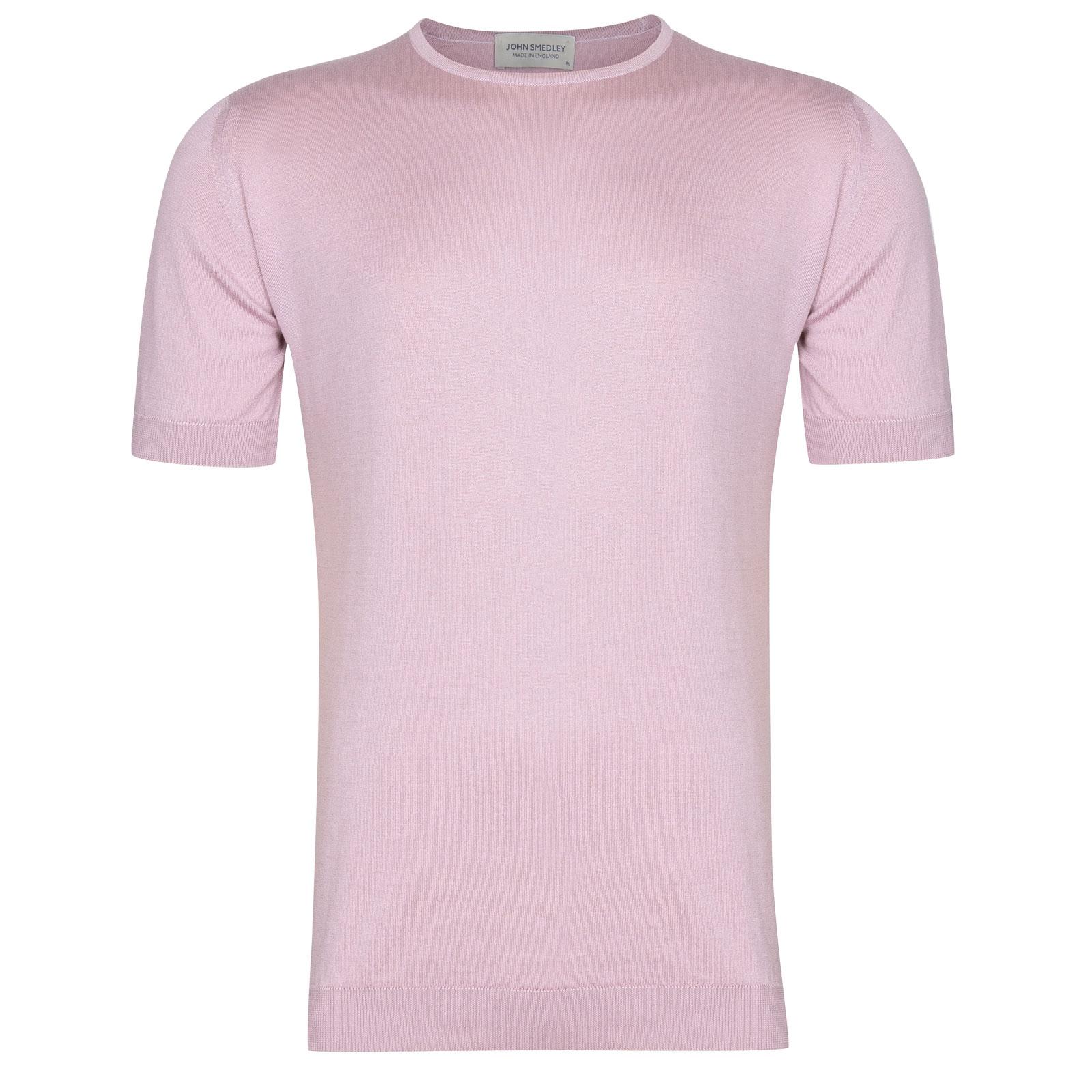 John Smedley Belden in Pink Blossom T-Shirt-XXL