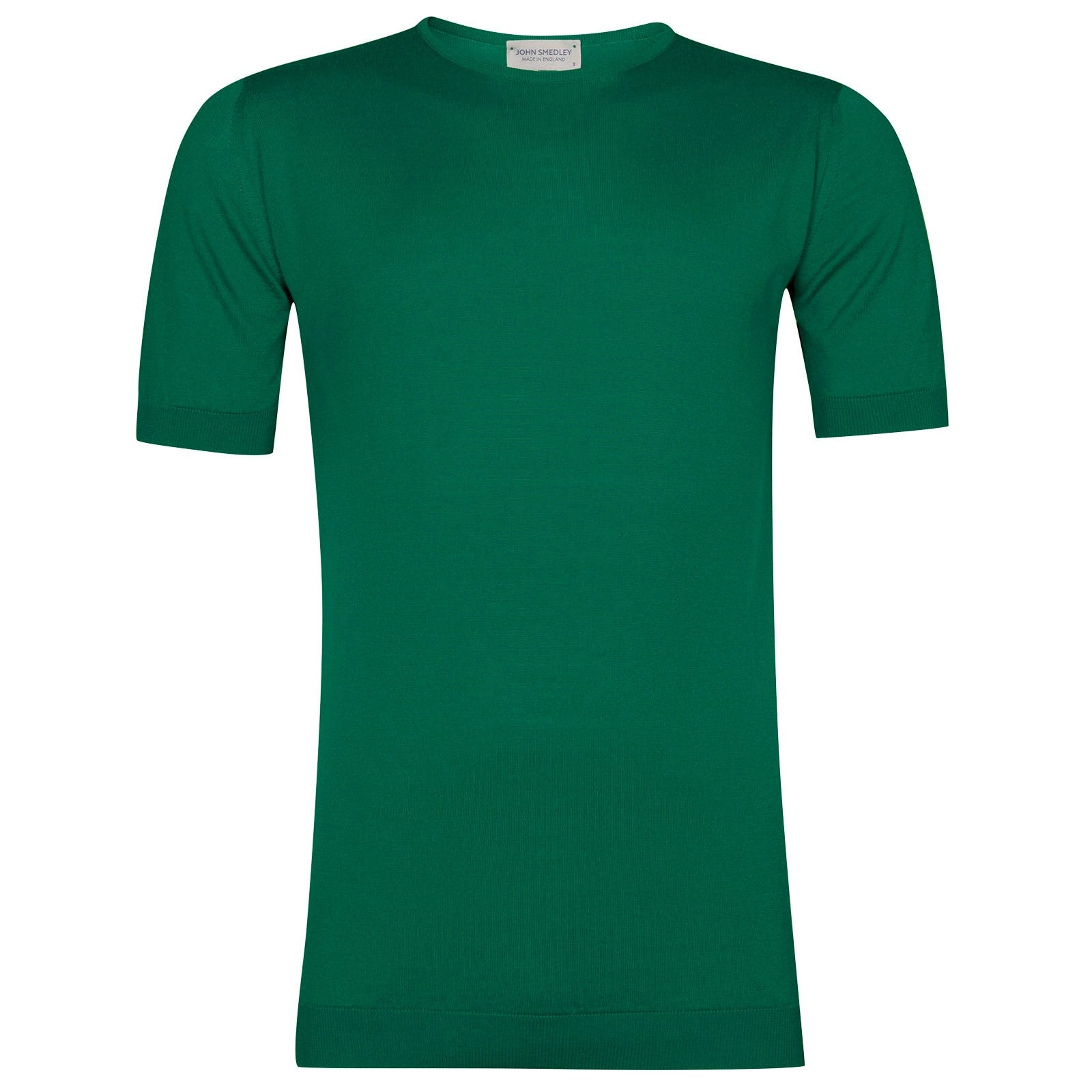 John Smedley Belden Sea Island Cotton T-shirt in Boron Green-XL