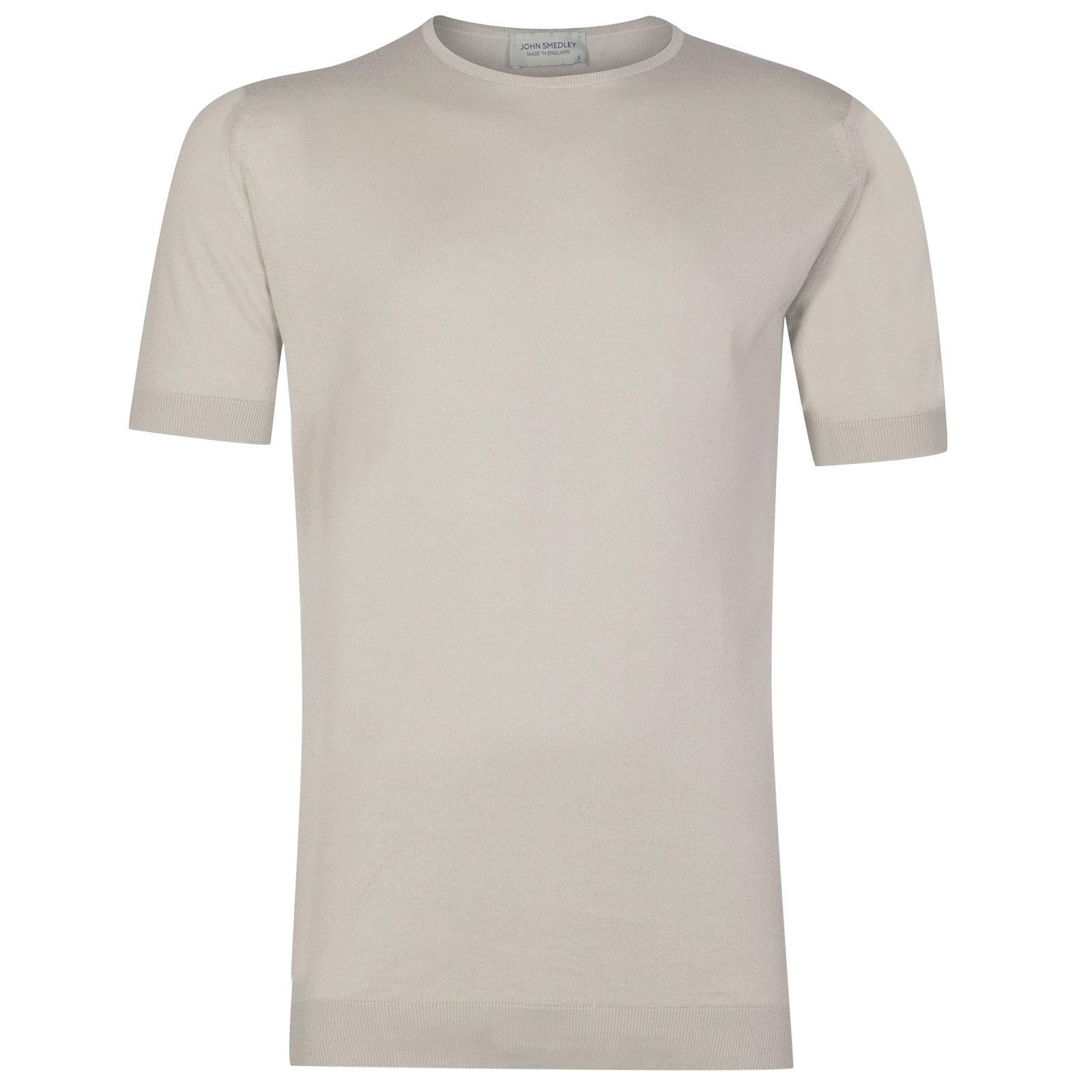 John Smedley Belden Sea Island Cotton T-shirt in Brunel Beige-L