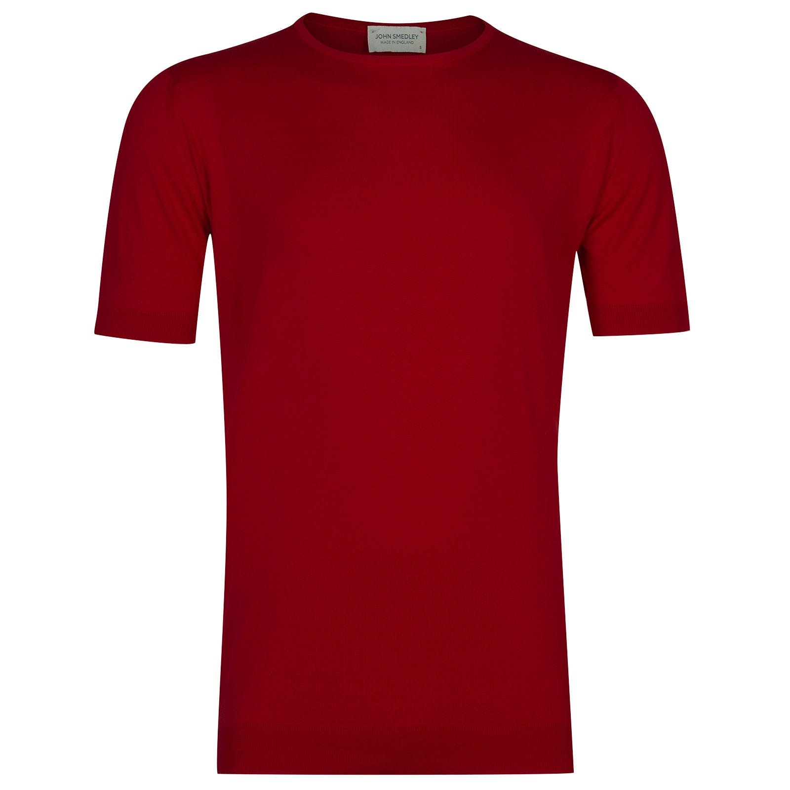 John Smedley Belden Sea Island Cotton T-shirt in Dandy Red-L