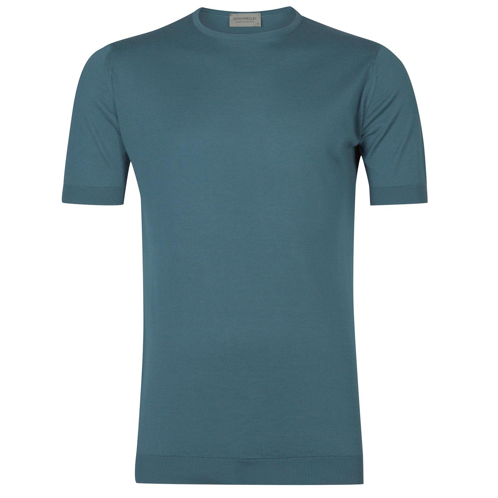 John Smedley Belden in Dewdrop Blue T-Shirt-SML