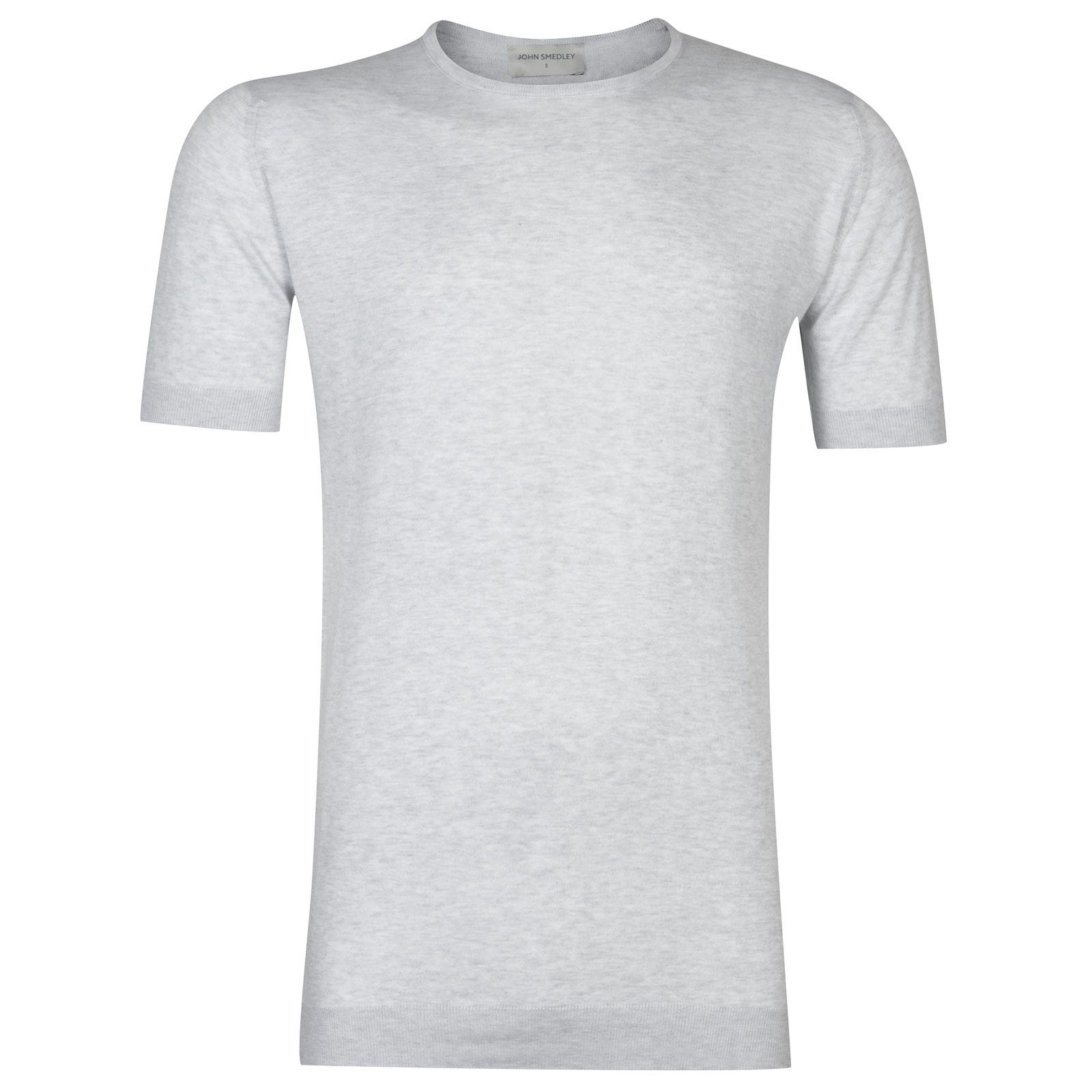 John Smedley belden Sea Island Cotton T-shirt in Feather Grey-L