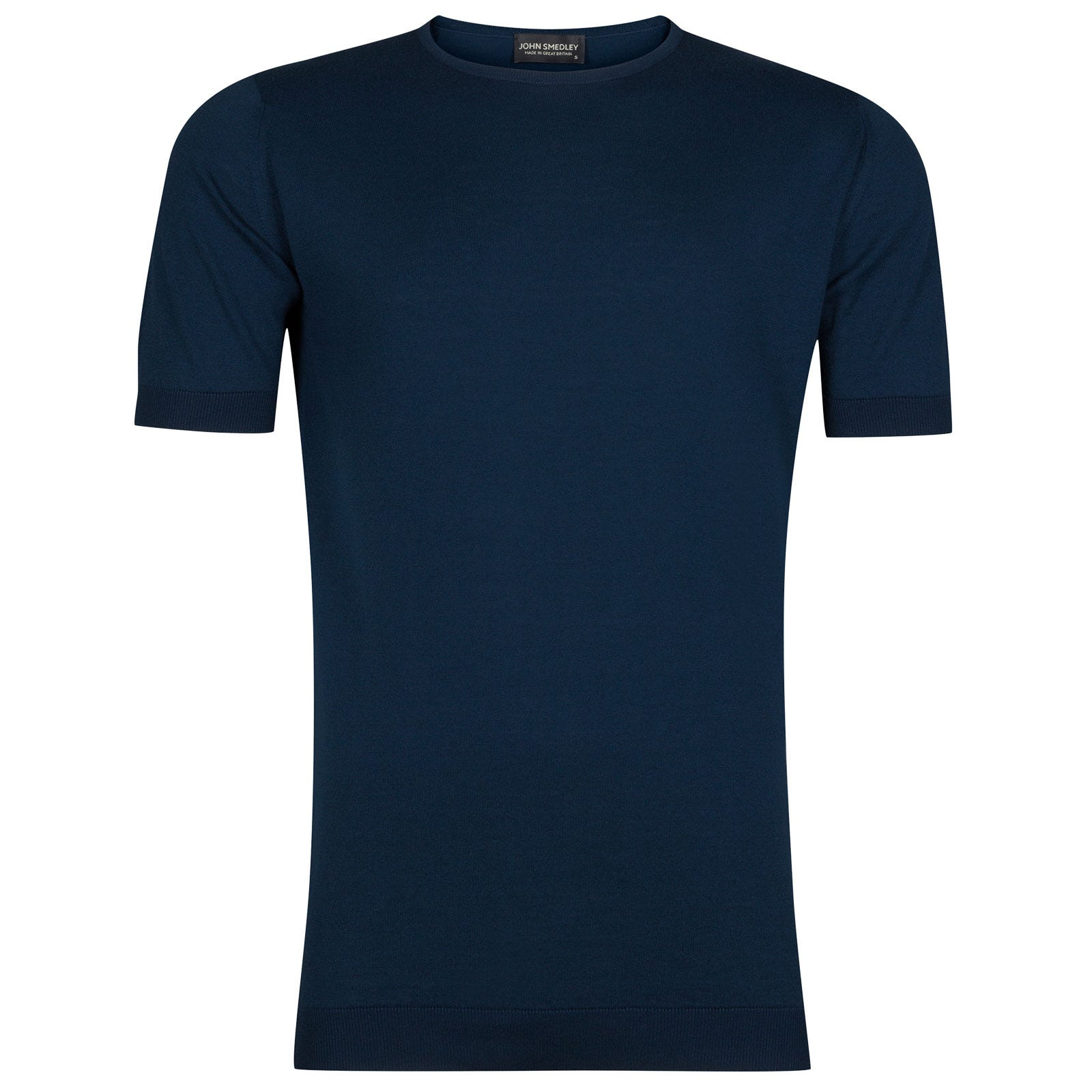 John Smedley belden Sea Island Cotton T-shirt in Indigo-M