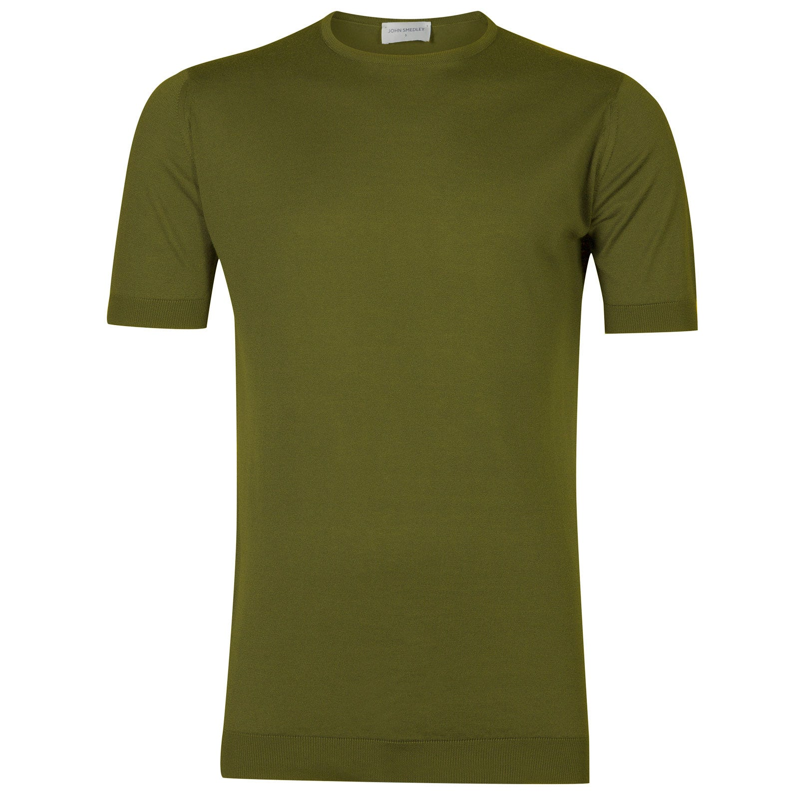 John Smedley belden Sea Island Cotton T-shirt in Lumsdale Green-M