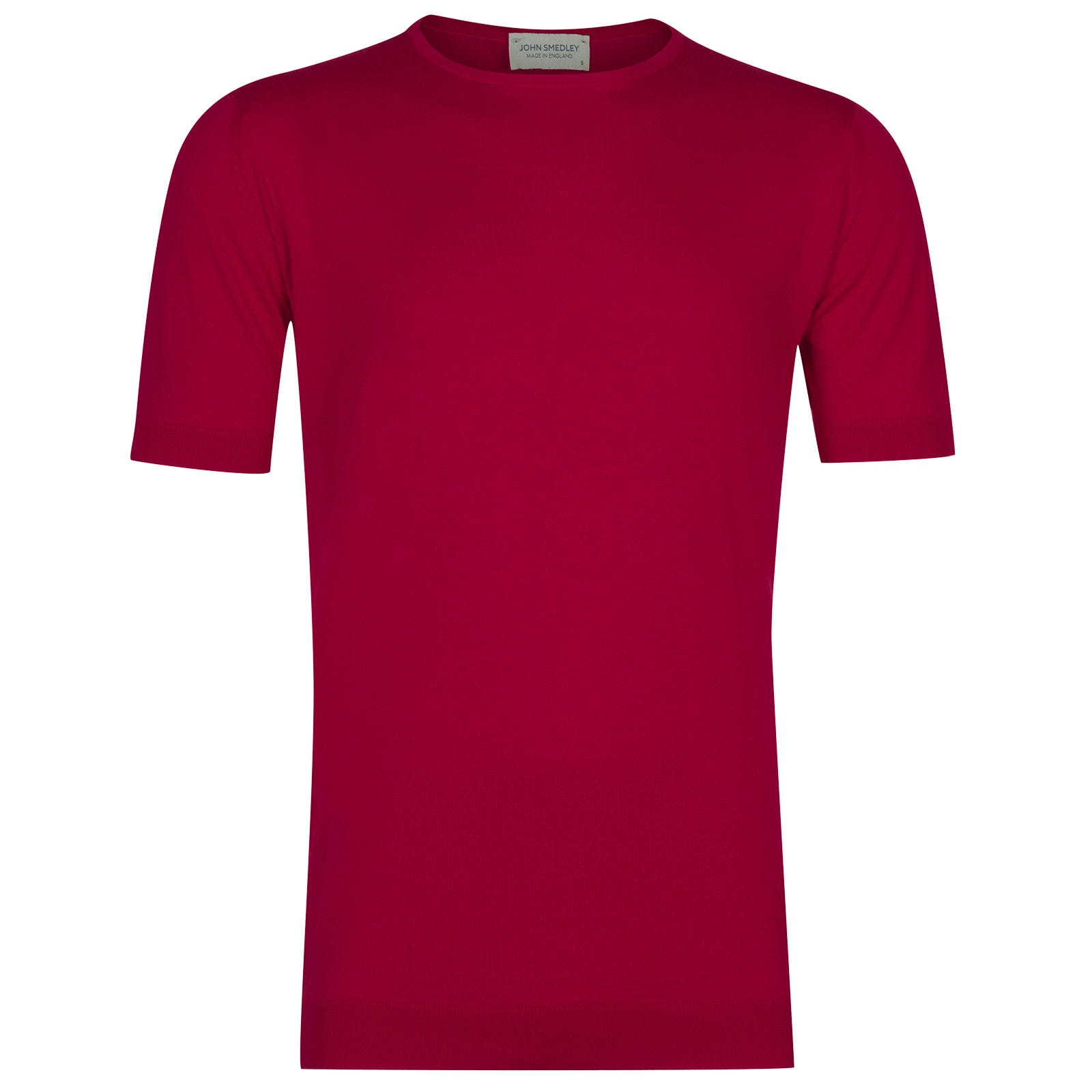 John Smedley belden Sea Island Cotton T-shirt in Scarlet Sky-L