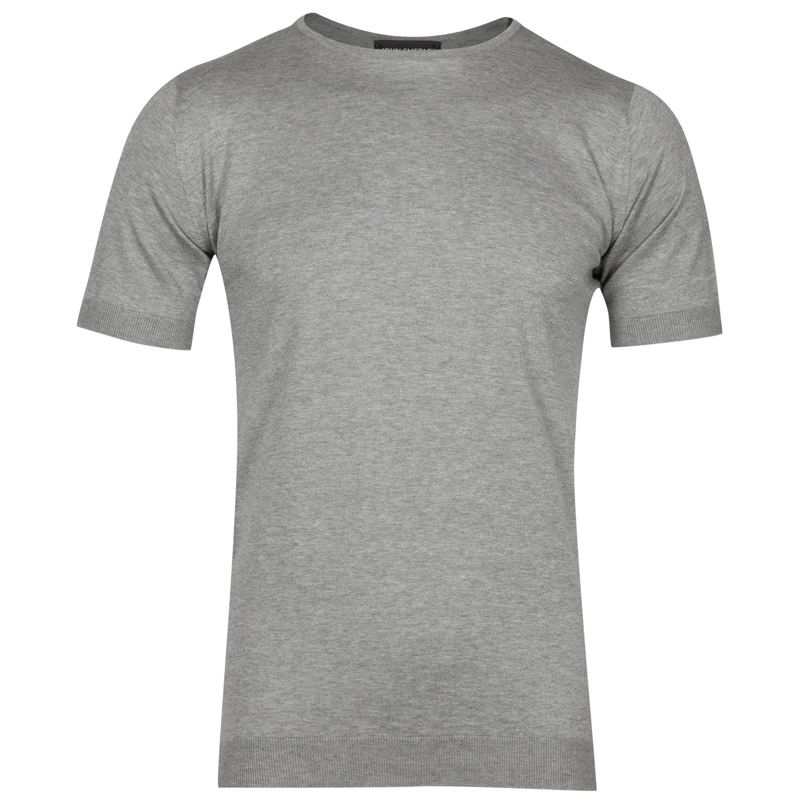 John Smedley belden Sea Island Cotton T-shirt in Silver-L