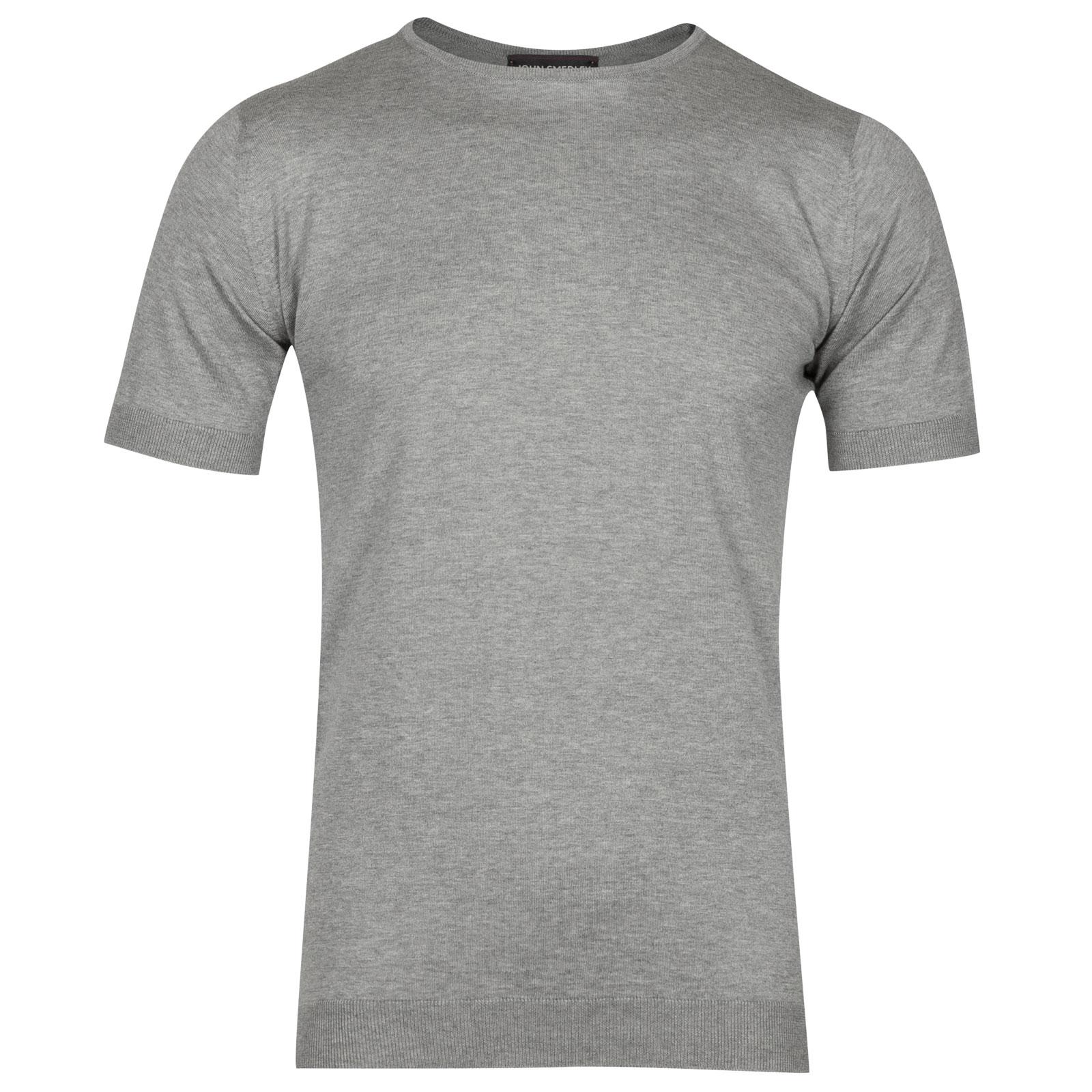 John Smedley belden Sea Island Cotton T-shirt in Silver-M