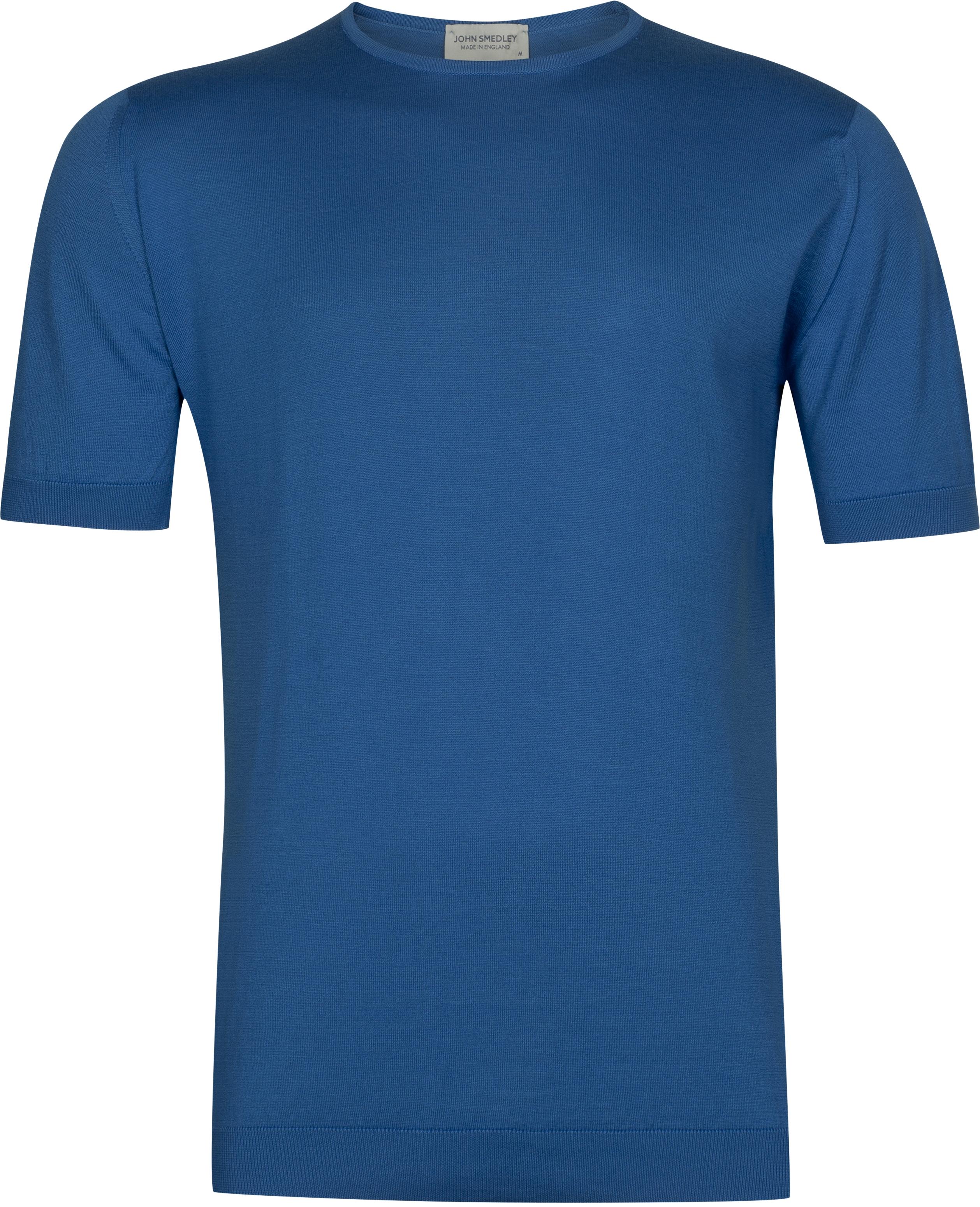 John Smedley Belden in Statice Blue T-Shirt-SML