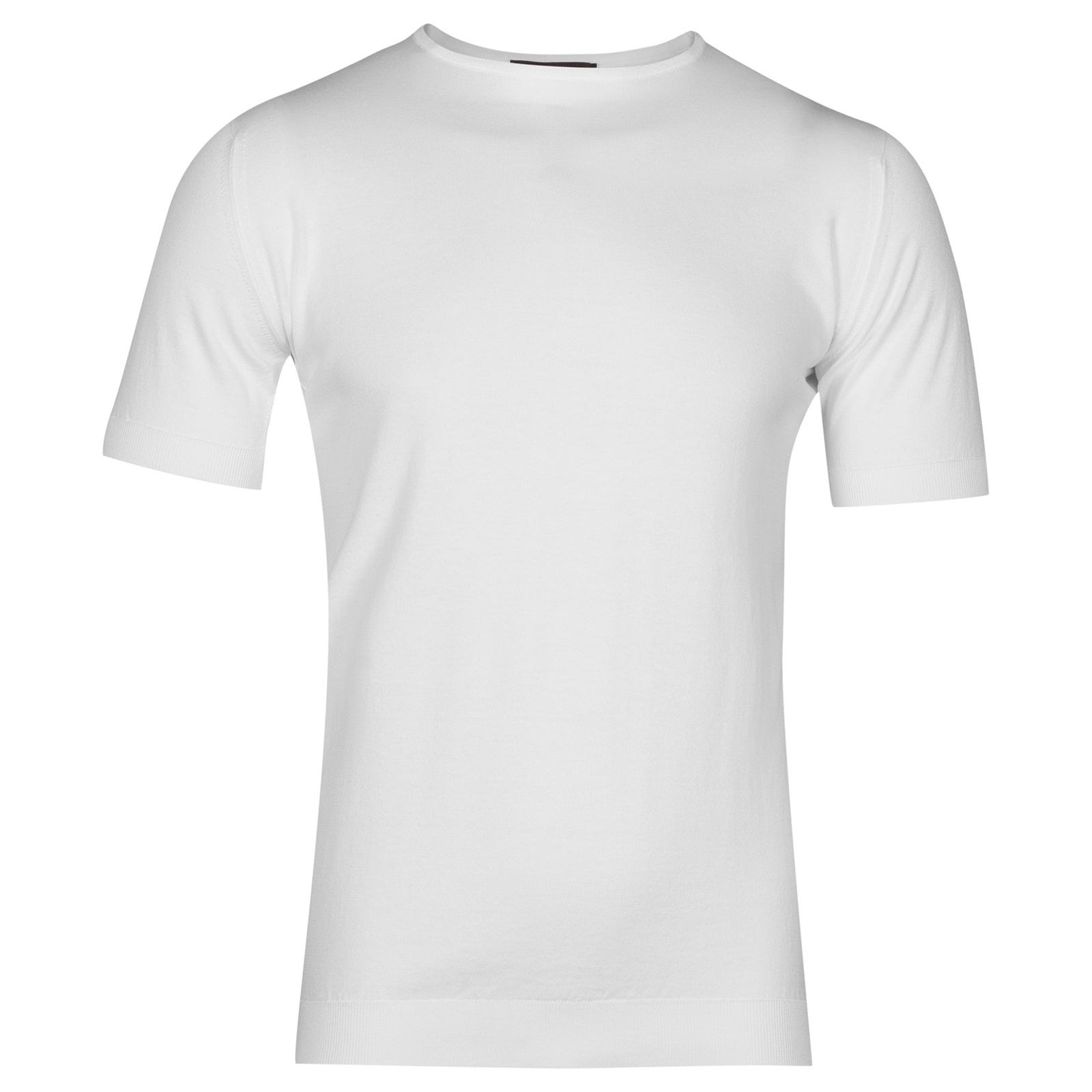 John Smedley belden Sea Island Cotton T-shirt in white-M