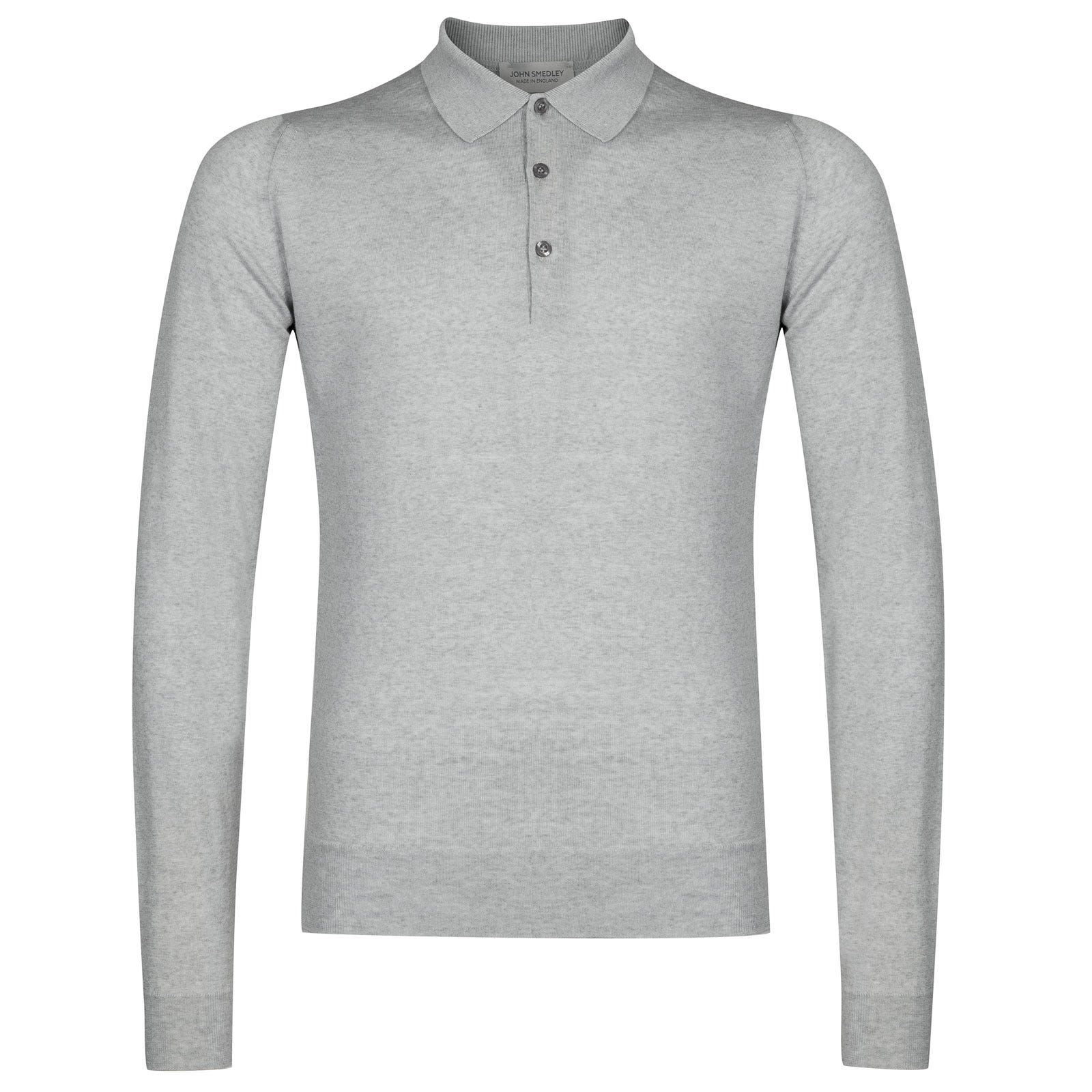 John Smedley belper Merino Wool Shirt in Bardot Grey-XL