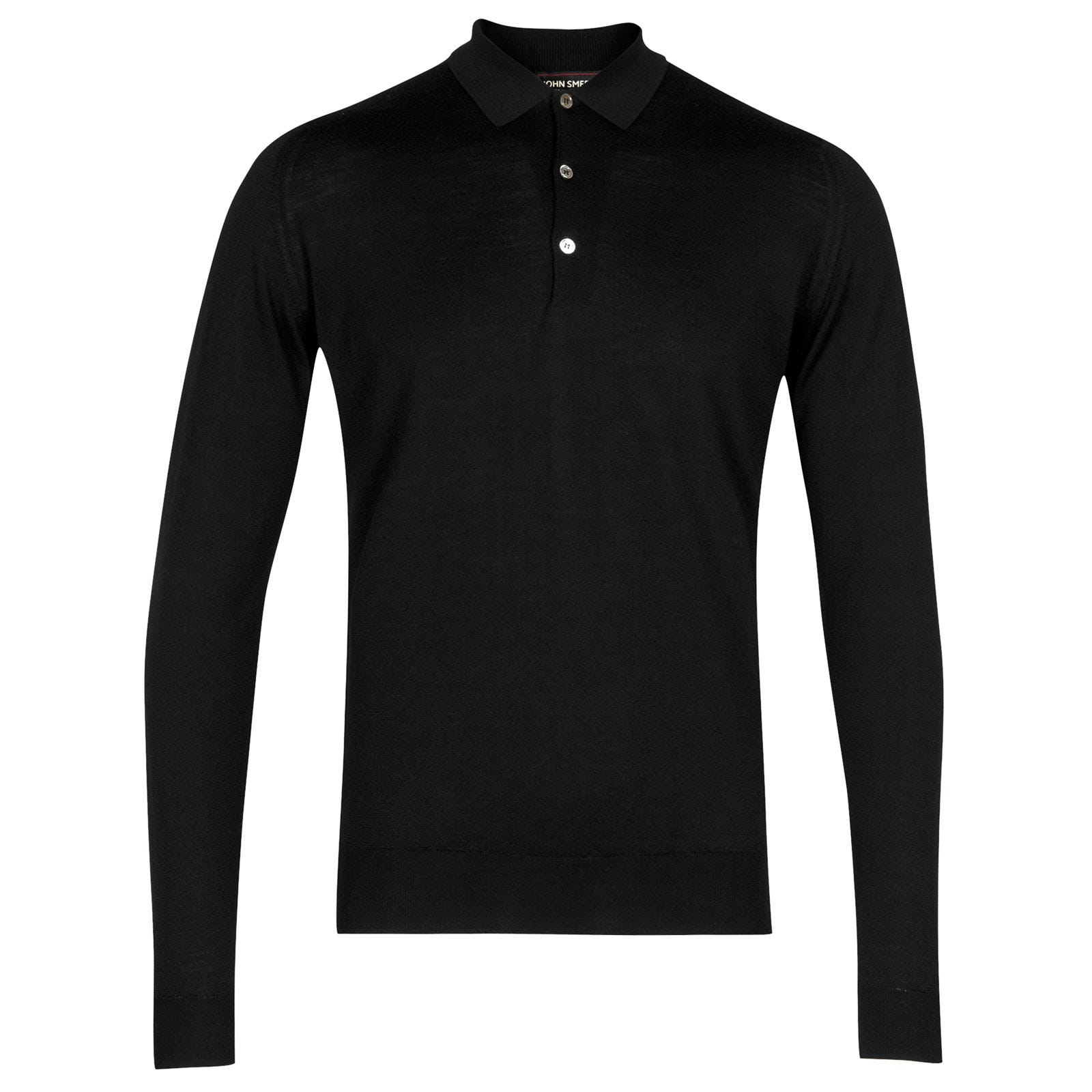 John Smedley belper Merino Wool Shirt in Black-M