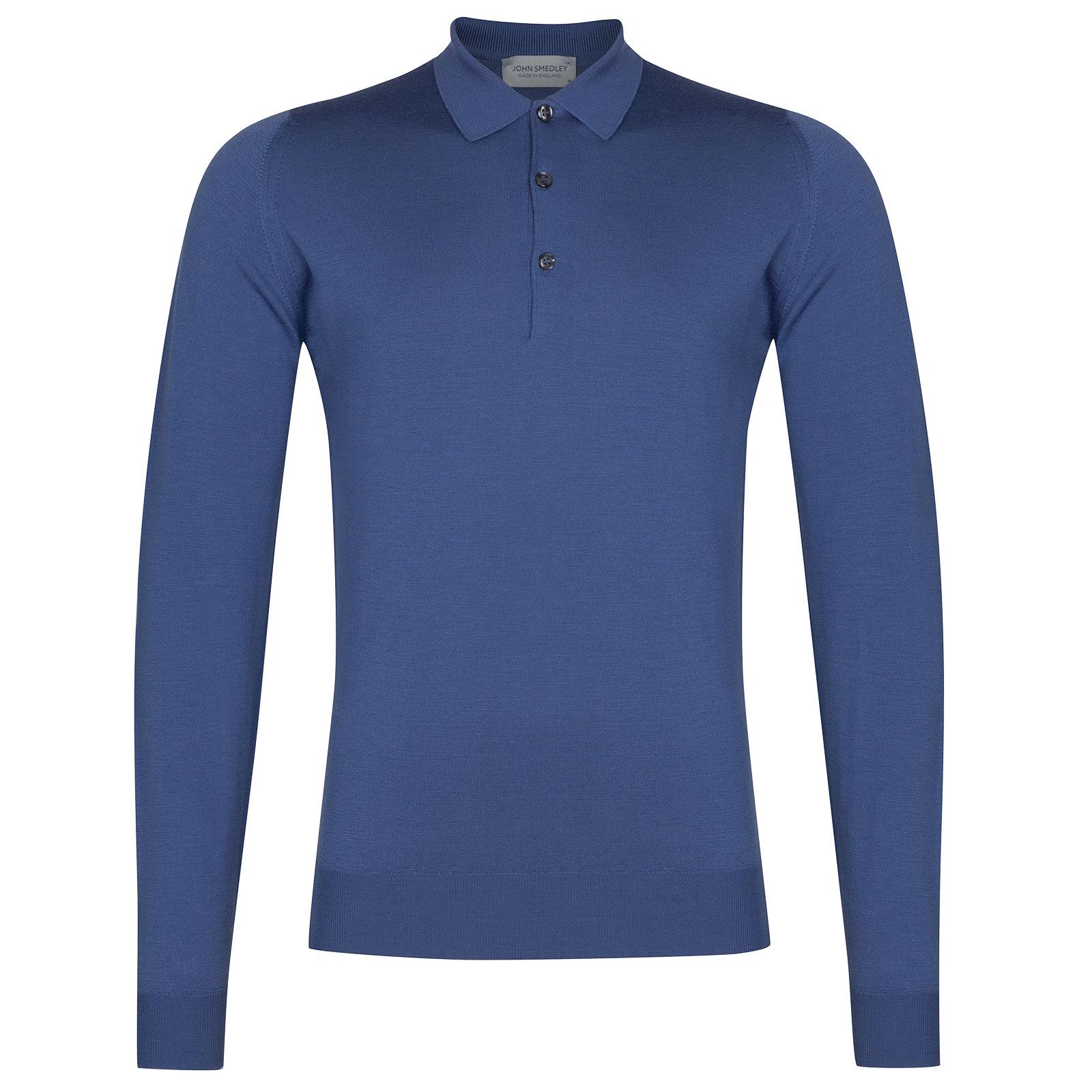 John Smedley Belper in Blue Iris Shirt-LGE