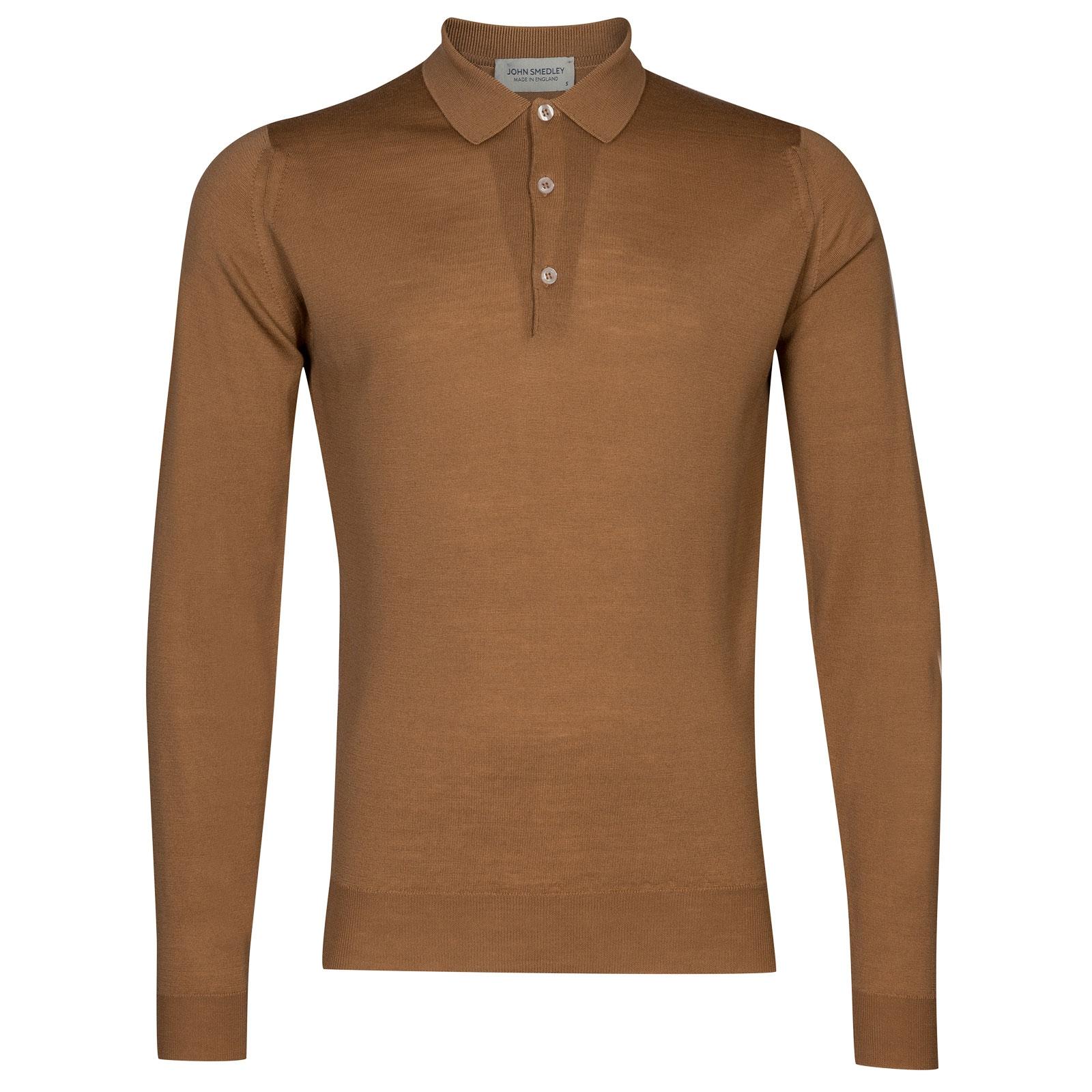 John Smedley Belper in Camel Shirt-SML