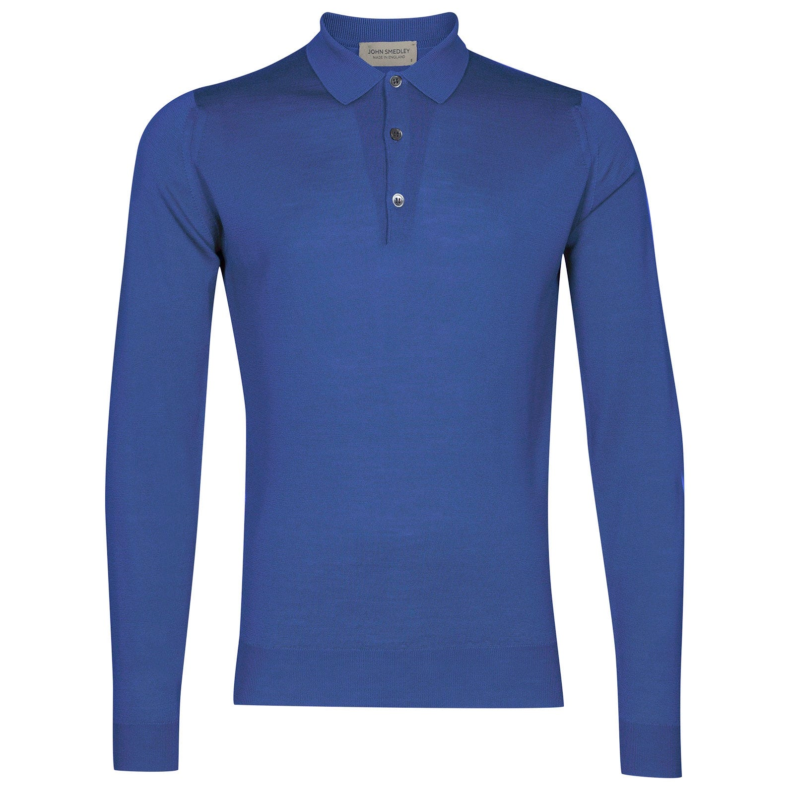 John Smedley Belper Merino Wool Shirt in Chambray Blue-L