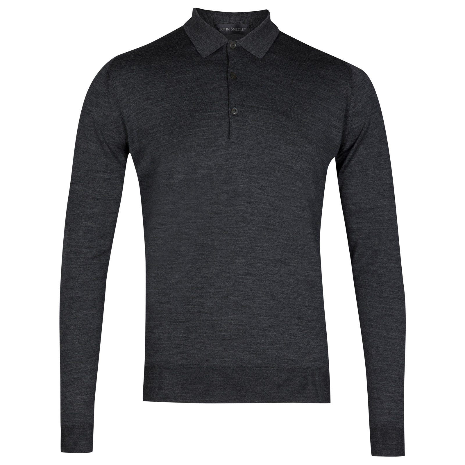John Smedley belper Merino Wool Shirt in Charcoal-XL