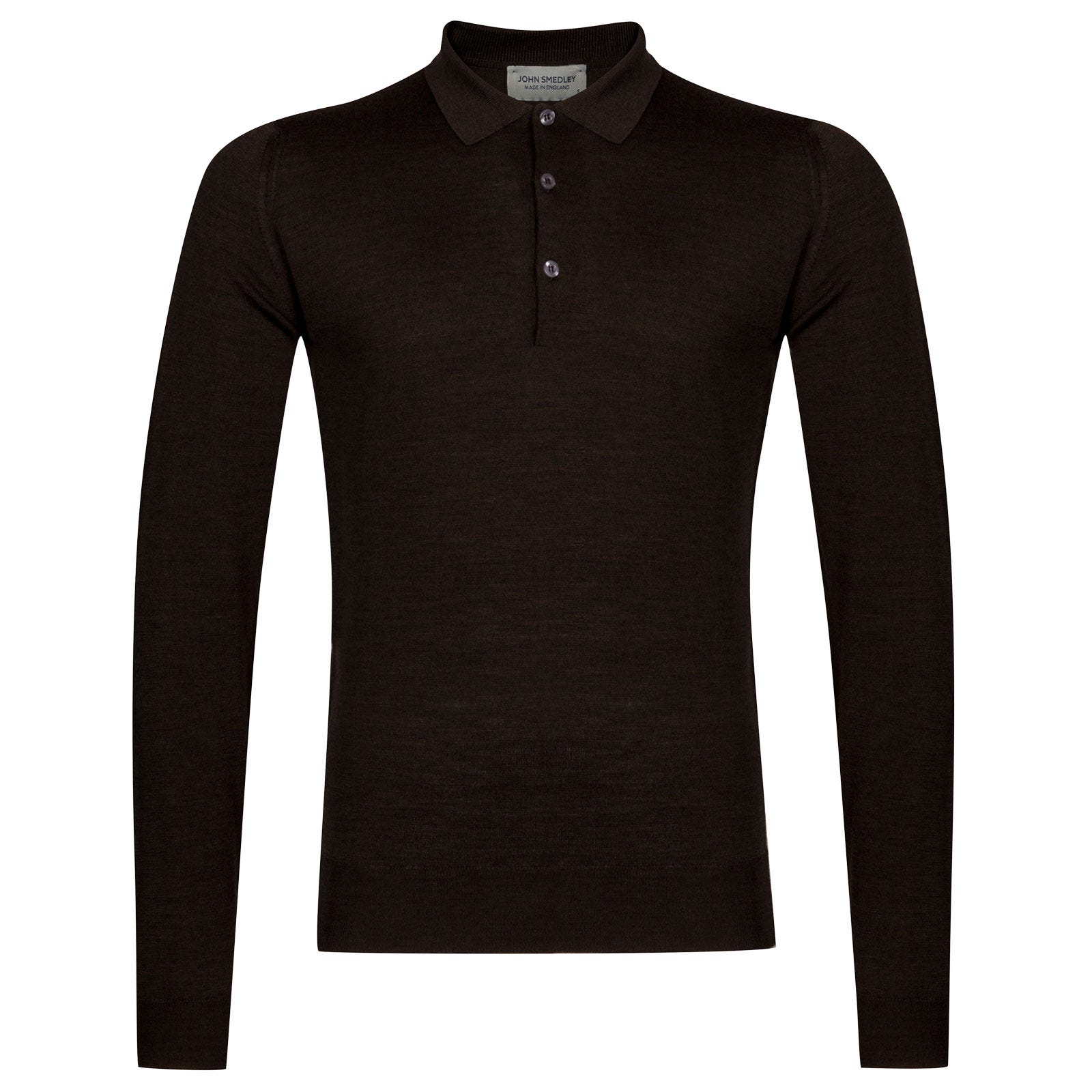 John Smedley belper Merino Wool Shirt in Chestnut-XXL