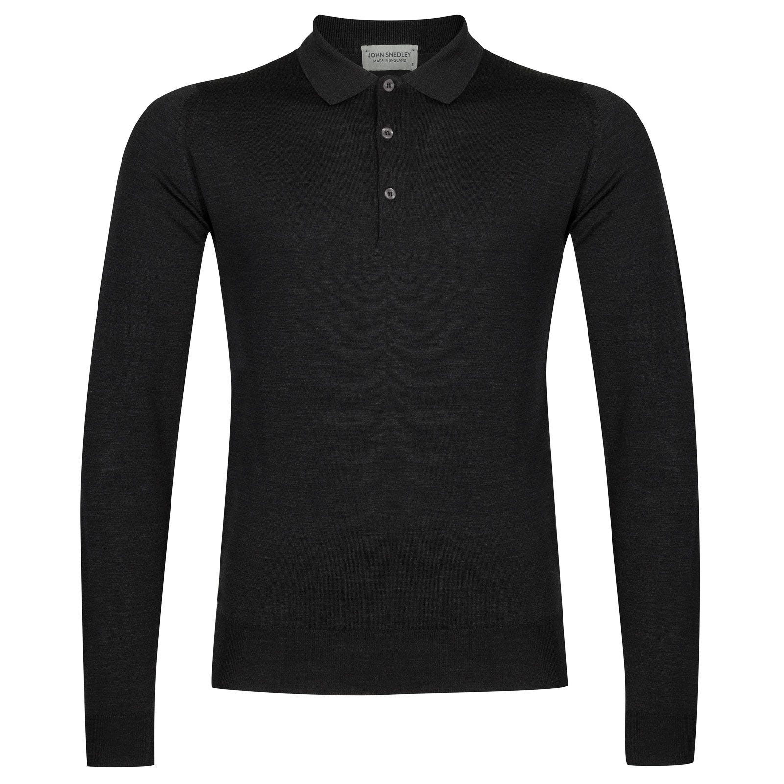 John Smedley belper Merino Wool Shirt in Hepburn Smoke-M