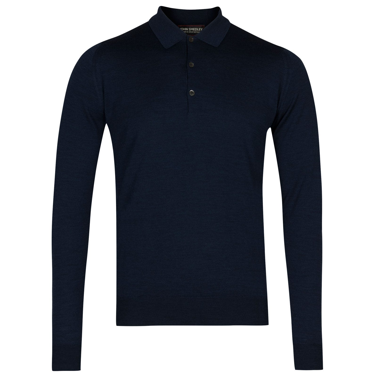 John Smedley belper Merino Wool Shirt in Indigo-XL