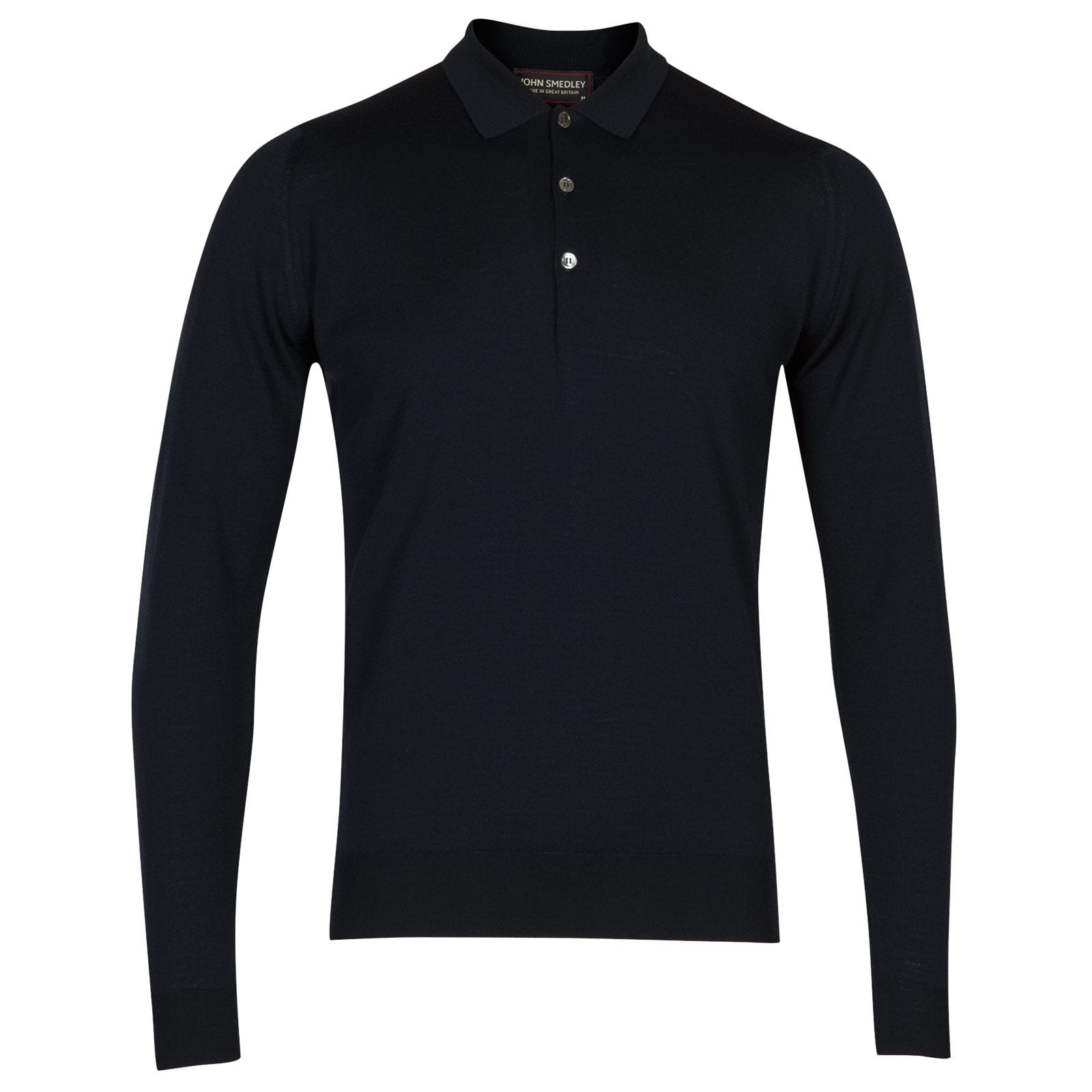 John Smedley belper Merino Wool Shirt in Midnight-M