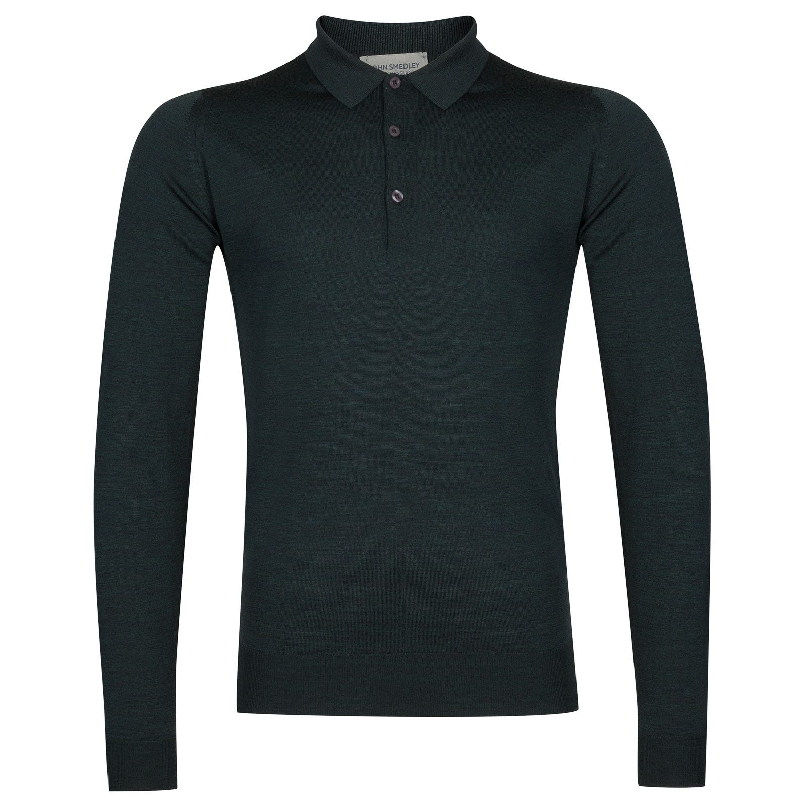 John Smedley belper Merino Wool Shirt in Racing Green-XL
